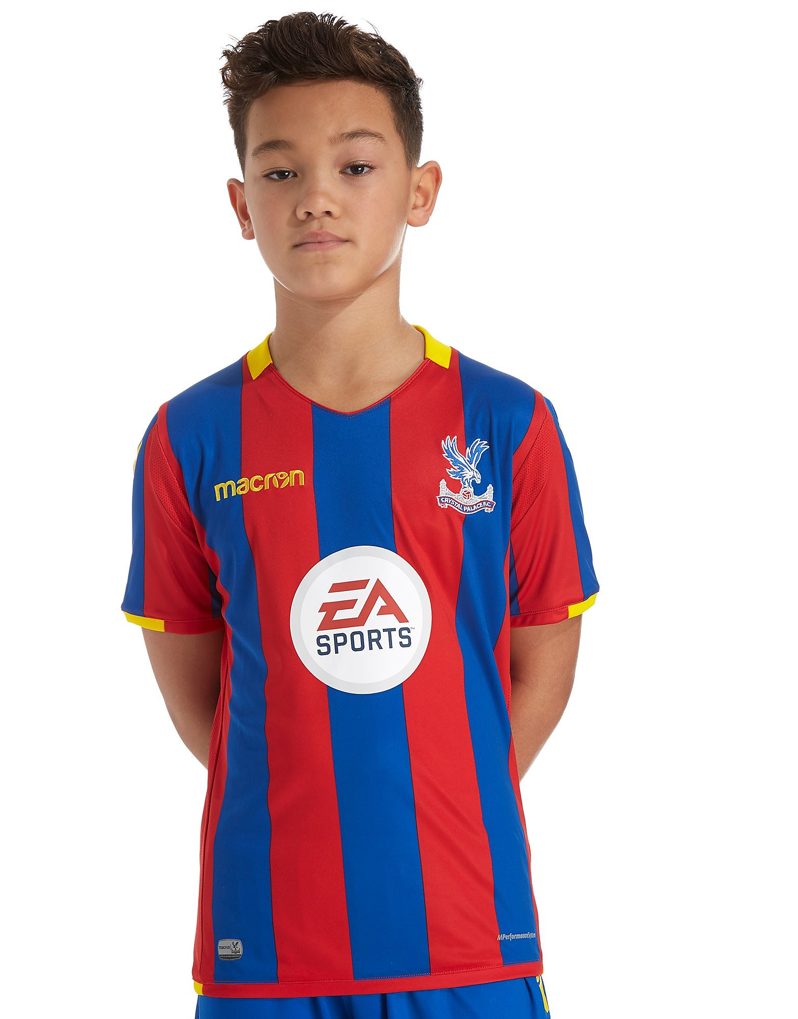 Macron Crystal Palace FC Home 17/18 Shirt Junior