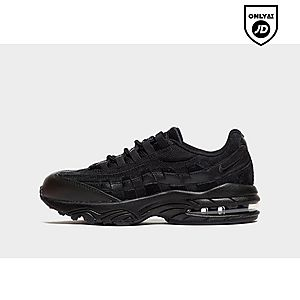 boys black nike air max trainers