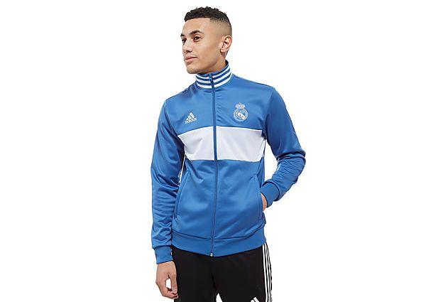 7bb0fc7ceb3 adidas Real Madrid 3-Stripes Track Top - Blue White - Mens