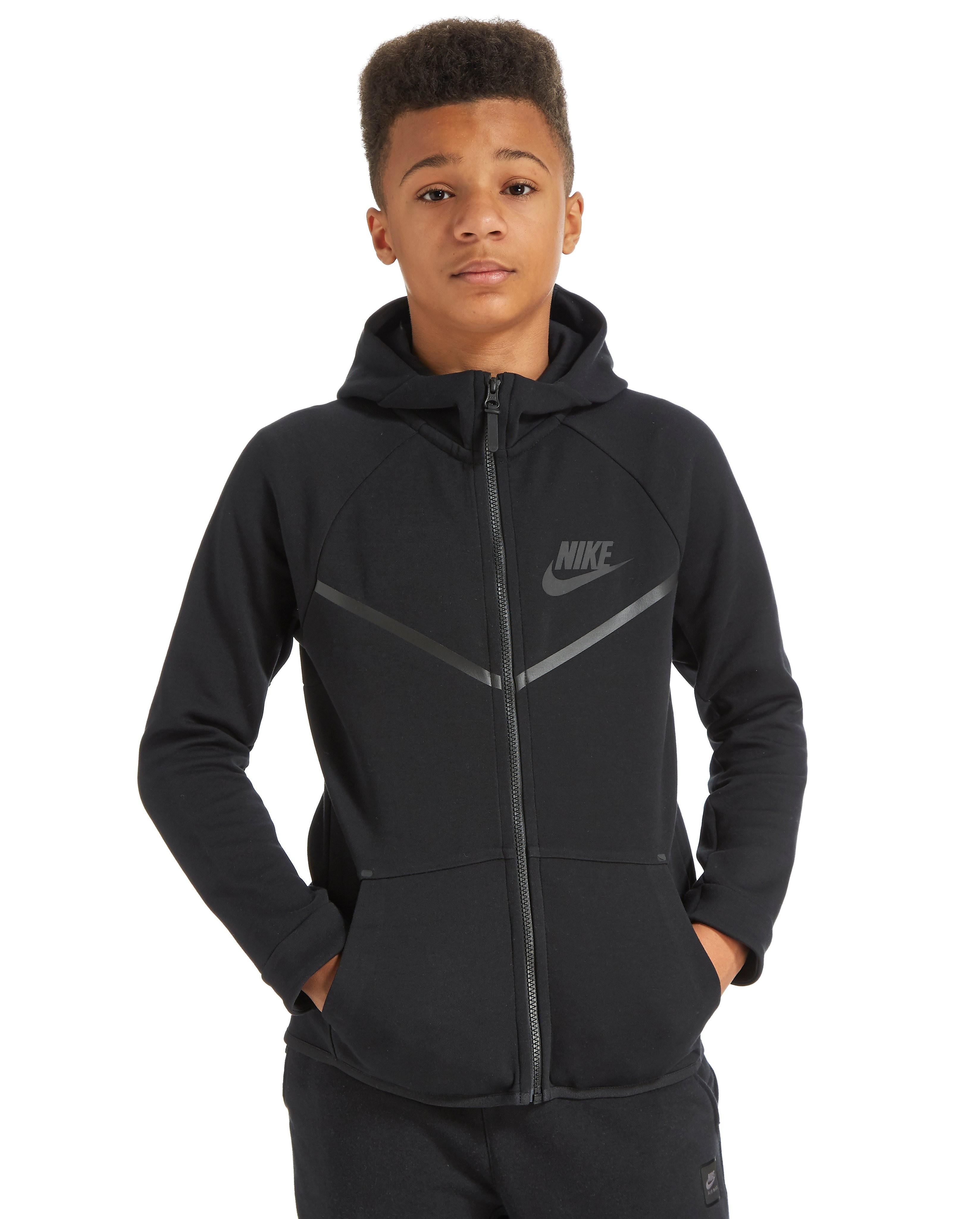 58ecb083b62 Nike Tech Windrunner Hoody Junior - Black - Kids - Sports King Store