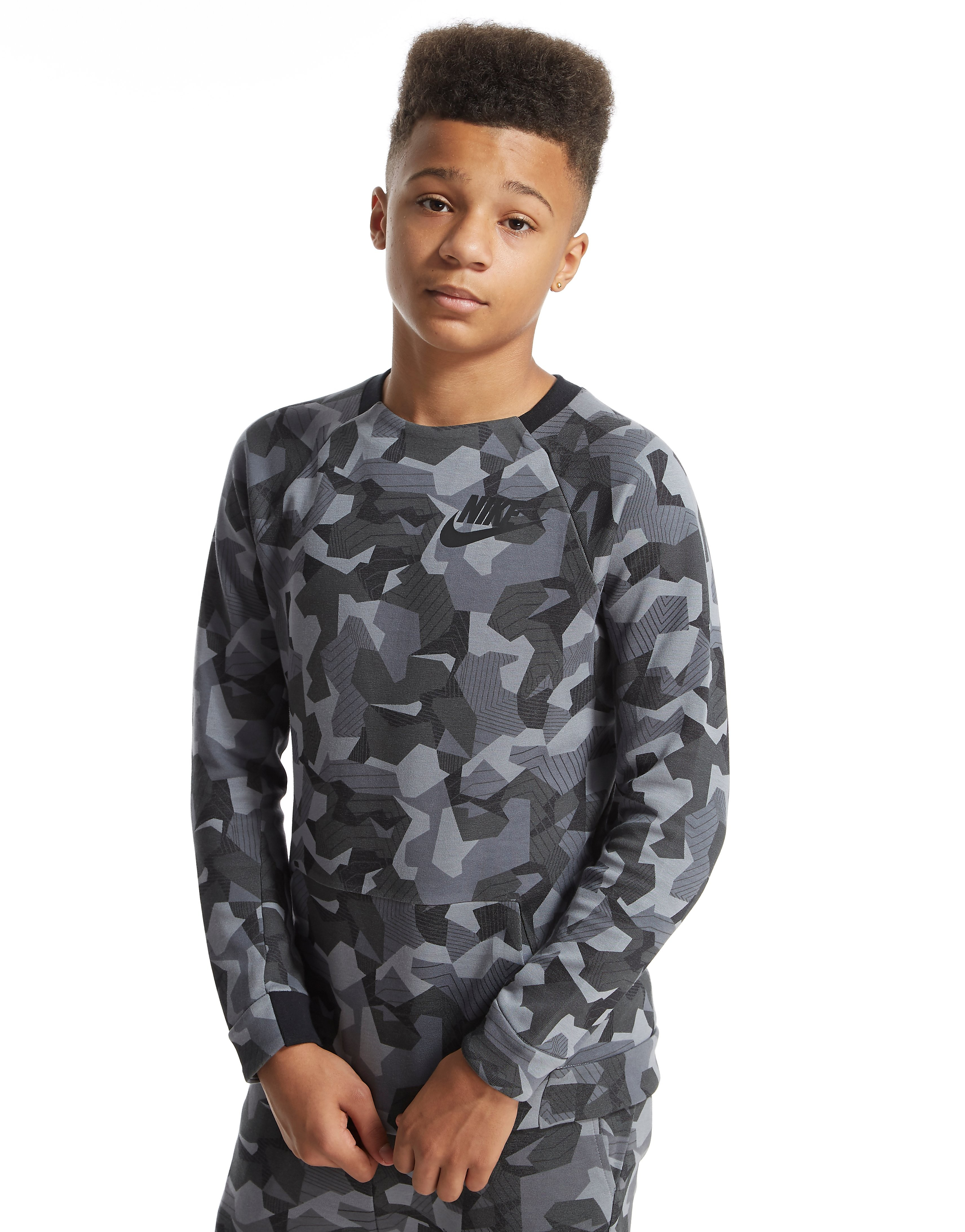 Nike Tech Fleece Crew-sweatshirt voor tieners