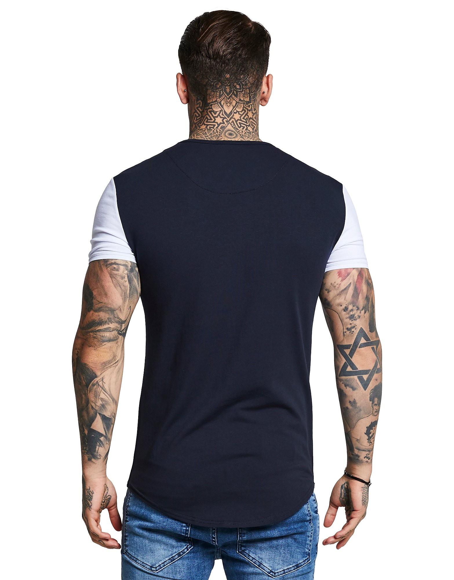 SikSilk Contrasting Sleeve T-Shirt