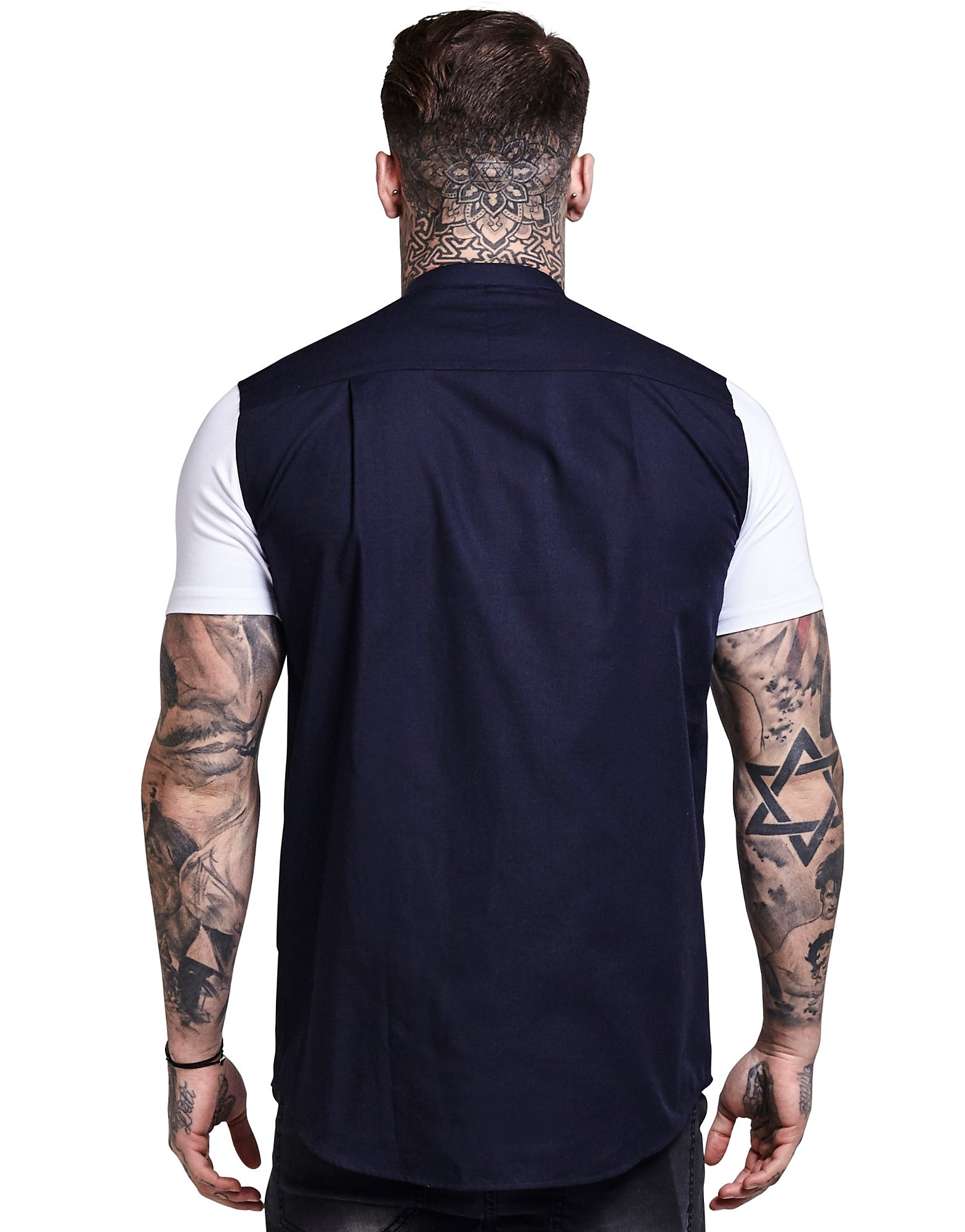 SikSilk Contrasting Sleeve Shirt
