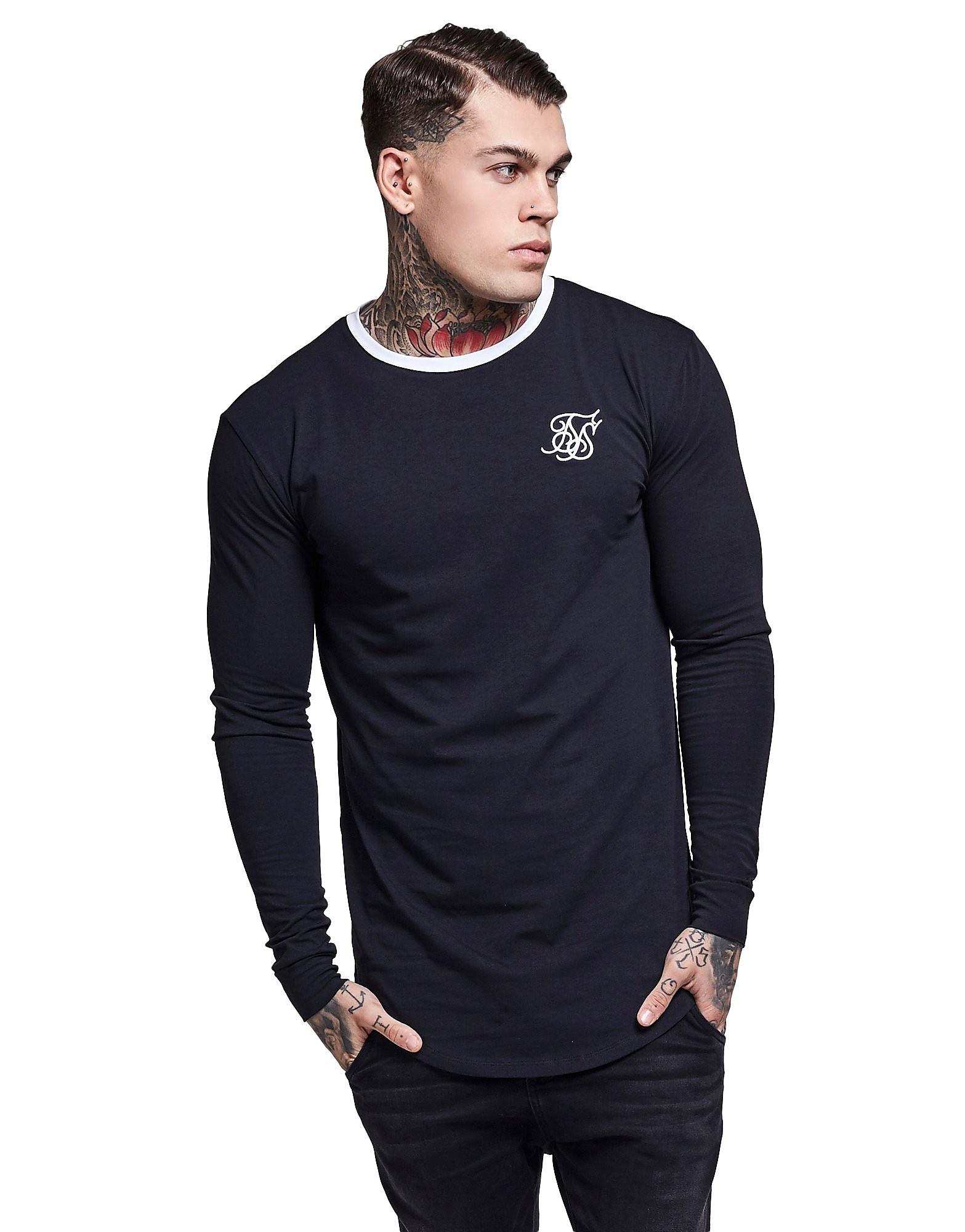 SikSilk Langarm Ringer T-Shirt