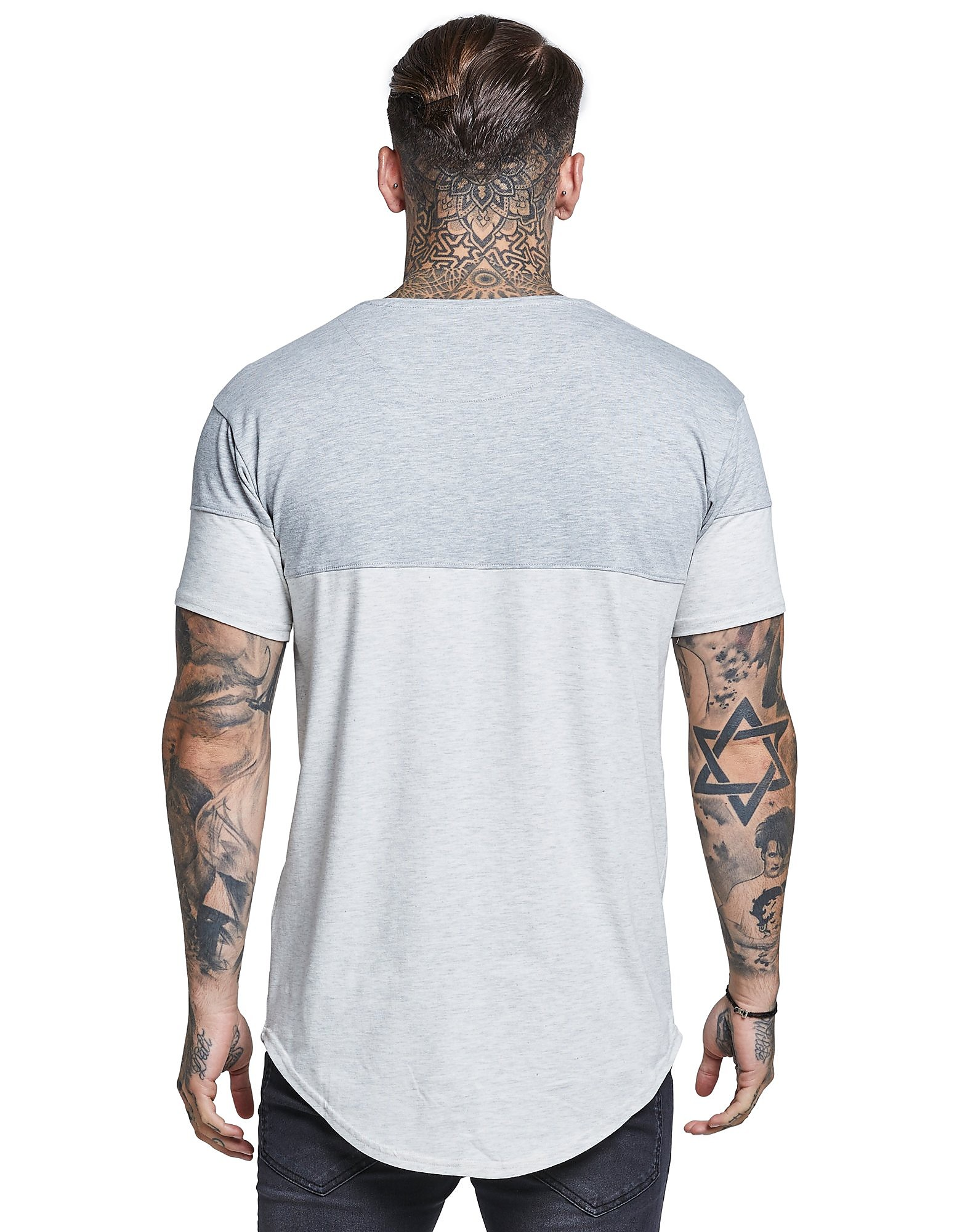 SikSilk camiseta Contrasting Panel