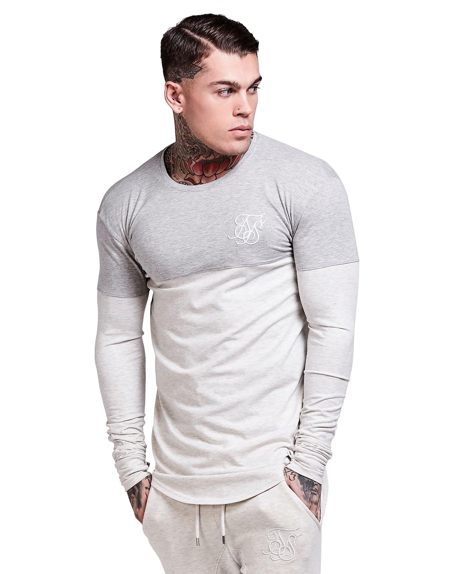 SikSilk Long Sleeve Colourblock T-Shirt