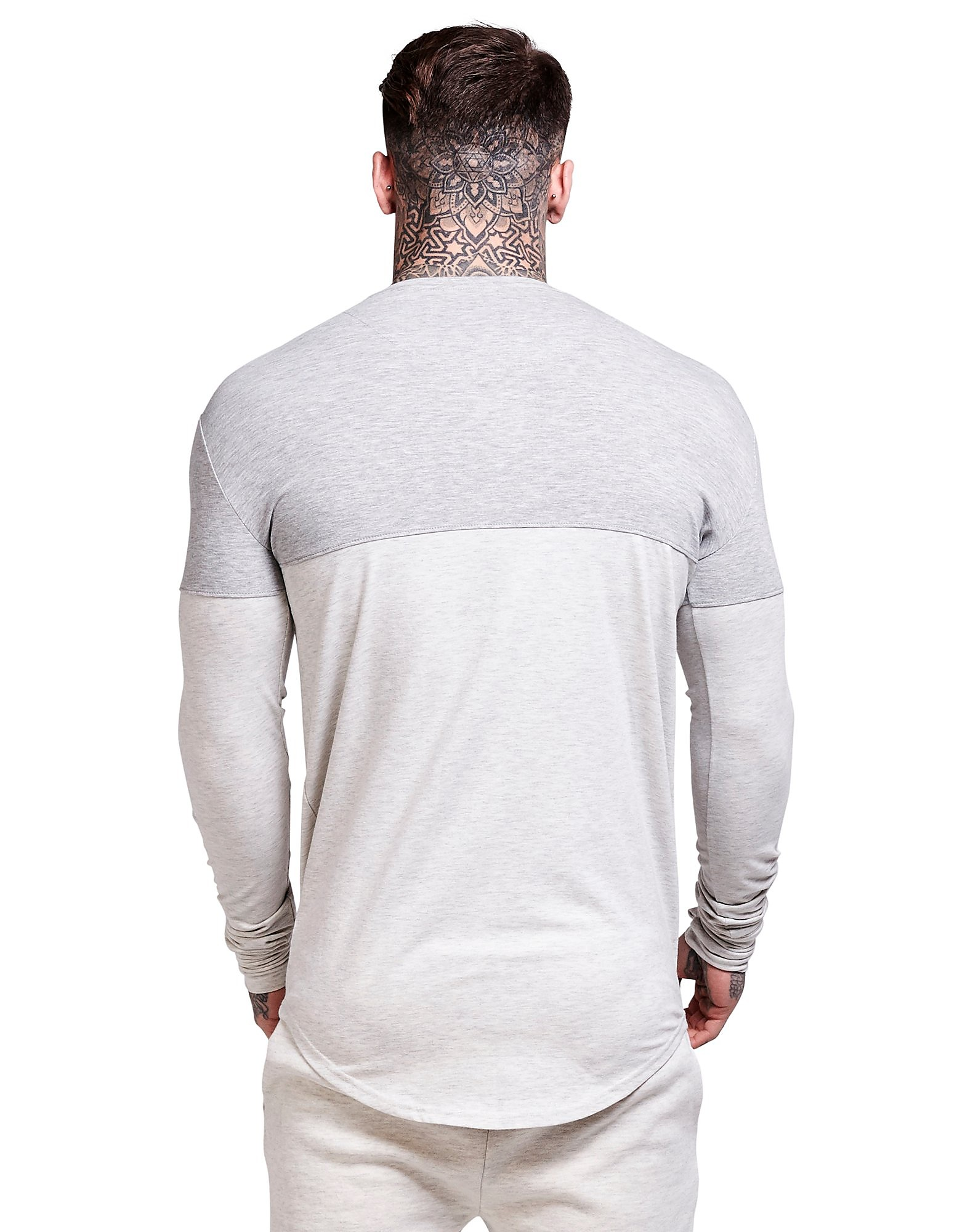 SikSilk Langarm Farbblock T-Shirt