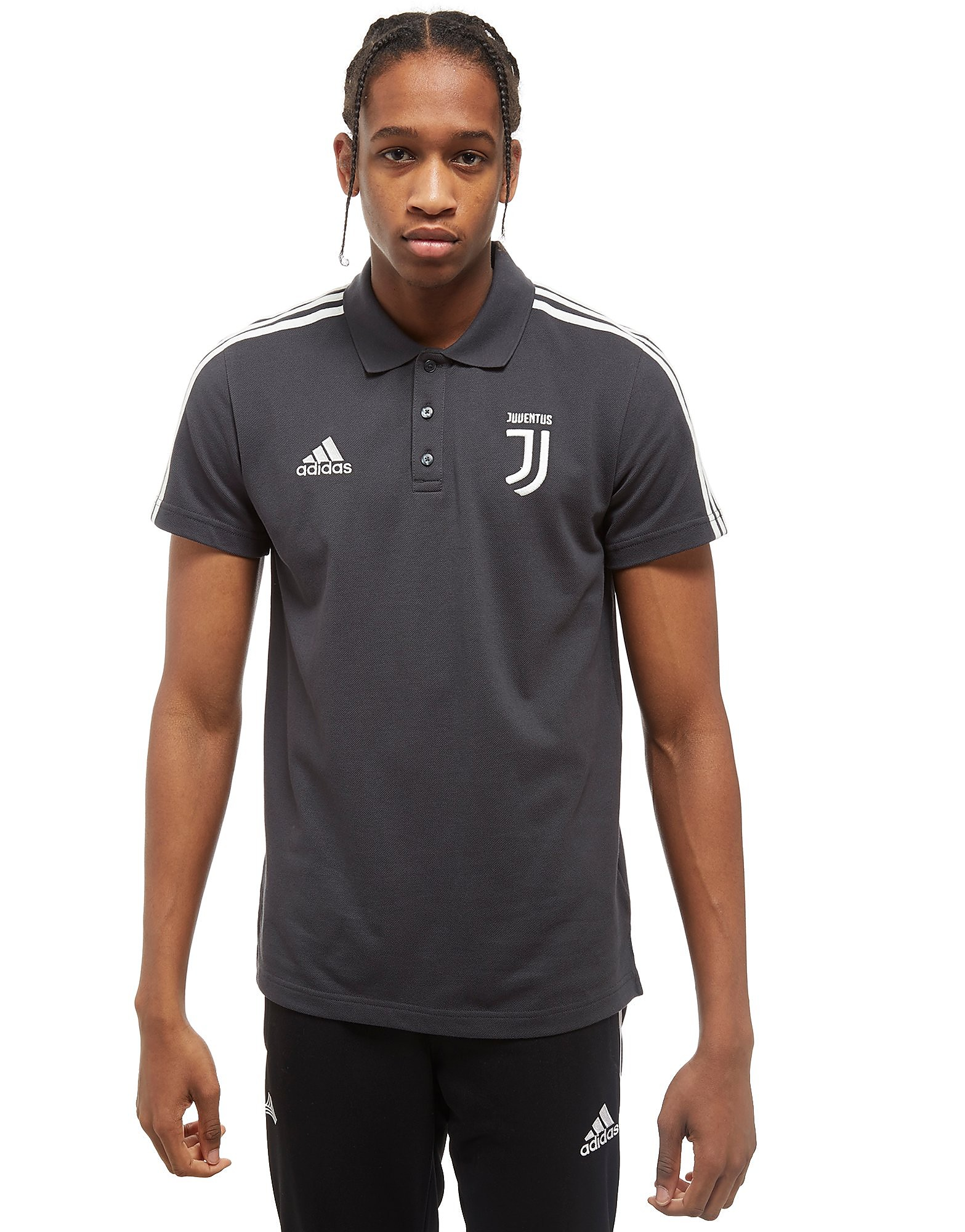 adidas Juventus 3-Stripe Polo Shirt