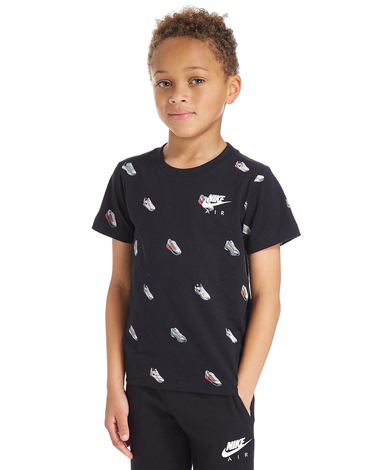 Nike Air Schuh-Druck T-Shirt Kinder