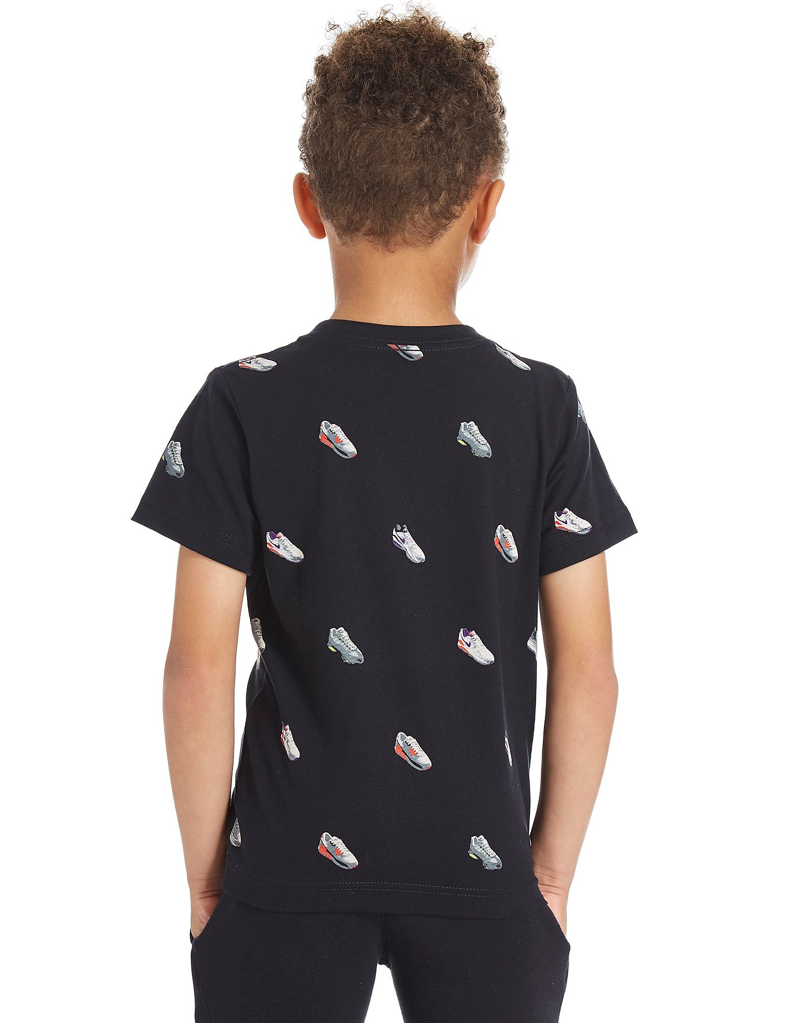 Nike camiseta Air Shoe Print infantil