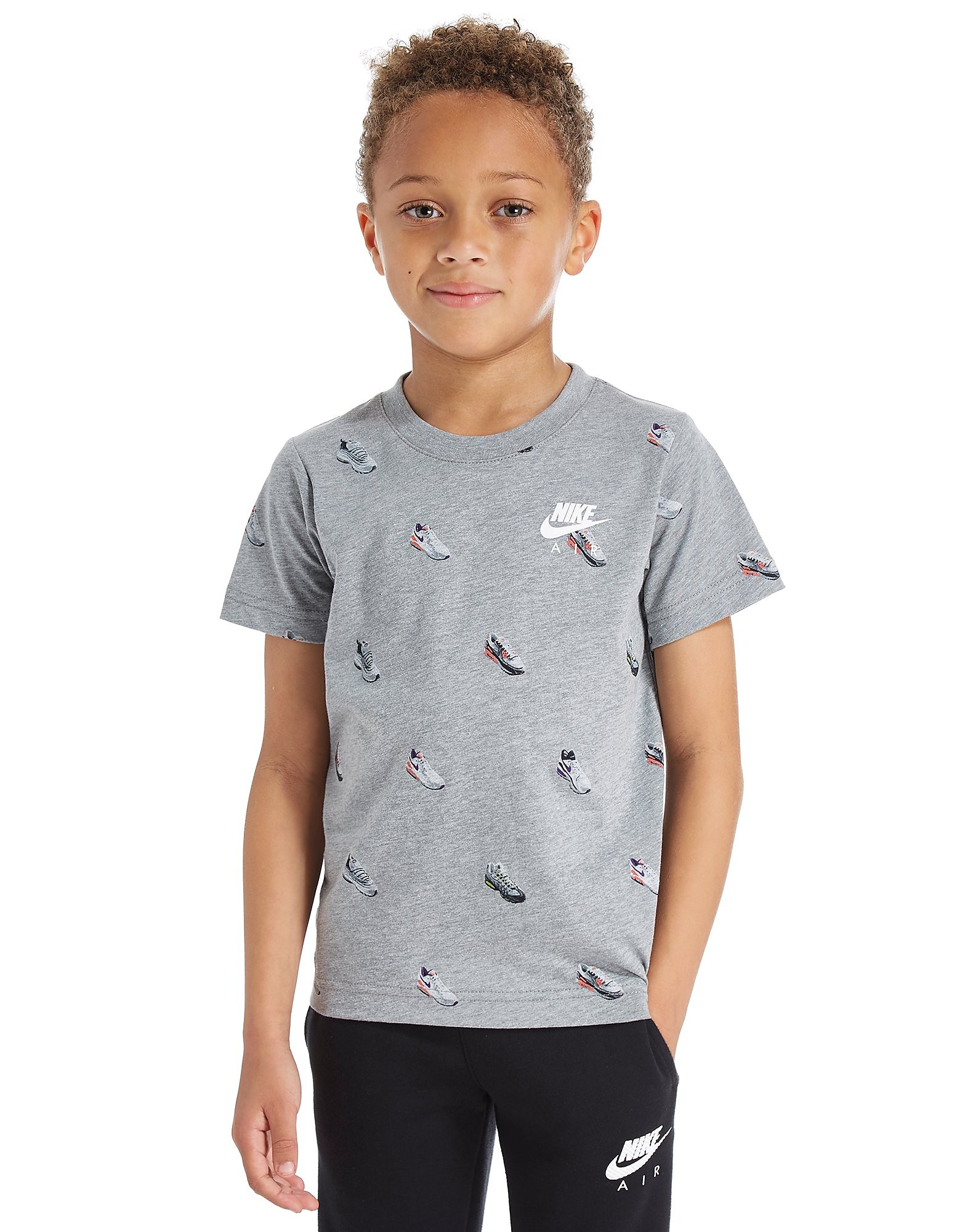 Nike Air Shoe T-Shirt Stampata Bambino