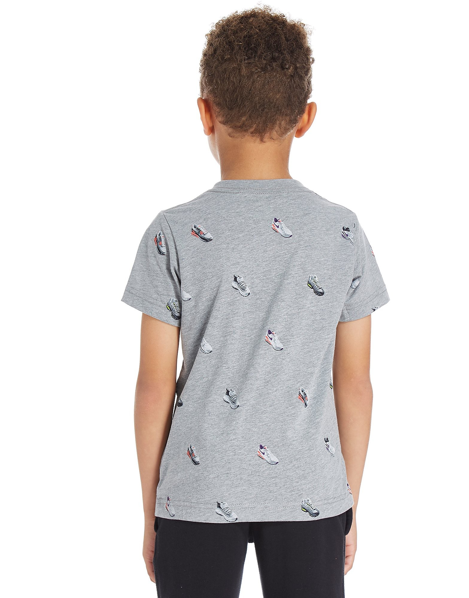 Nike camiseta Air Shoe Print infantil