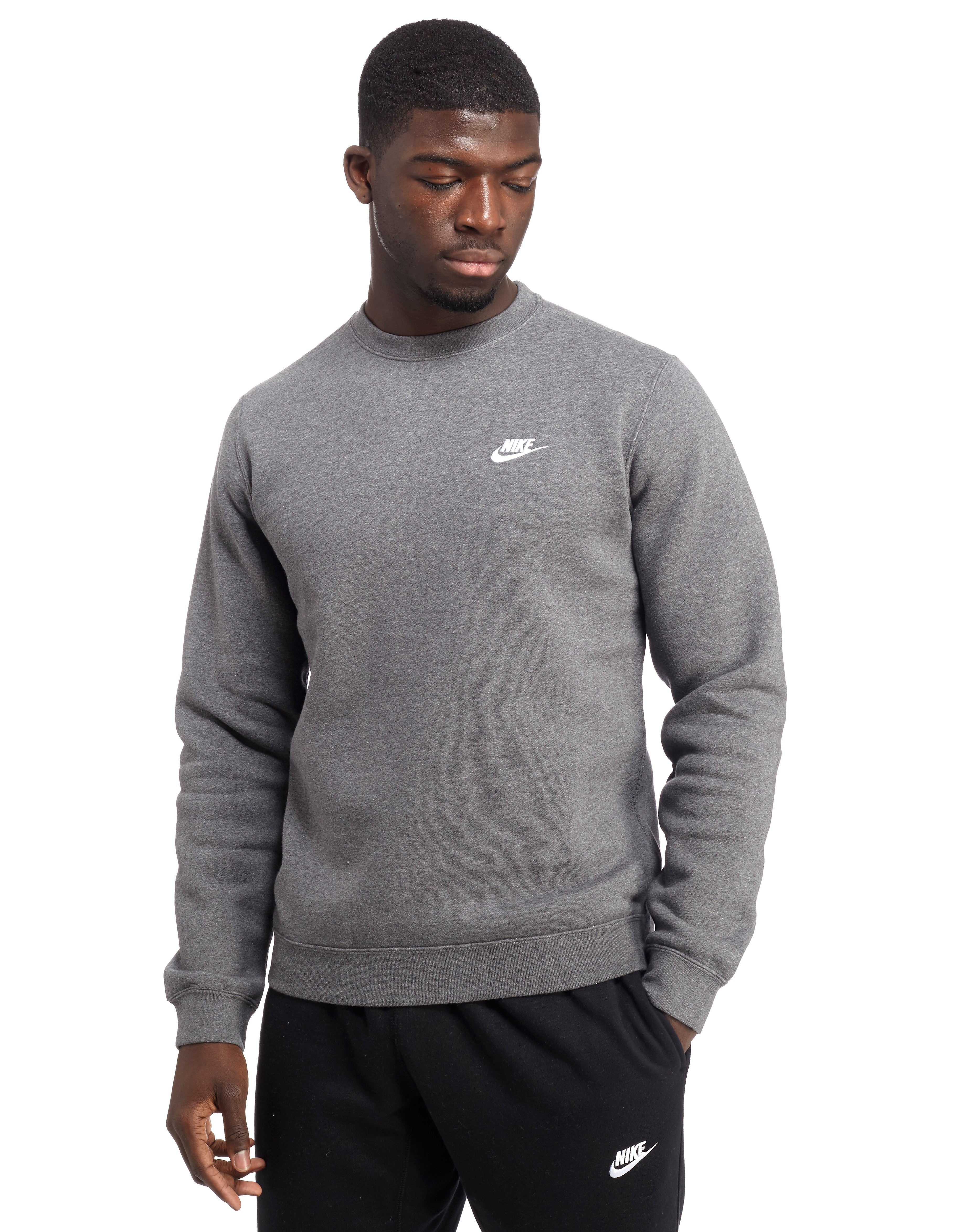 flotador Velocidad supersónica Goneryl  Nike Foundation Crew Sweatshirt - Charcoal - Mens - Sports King Store