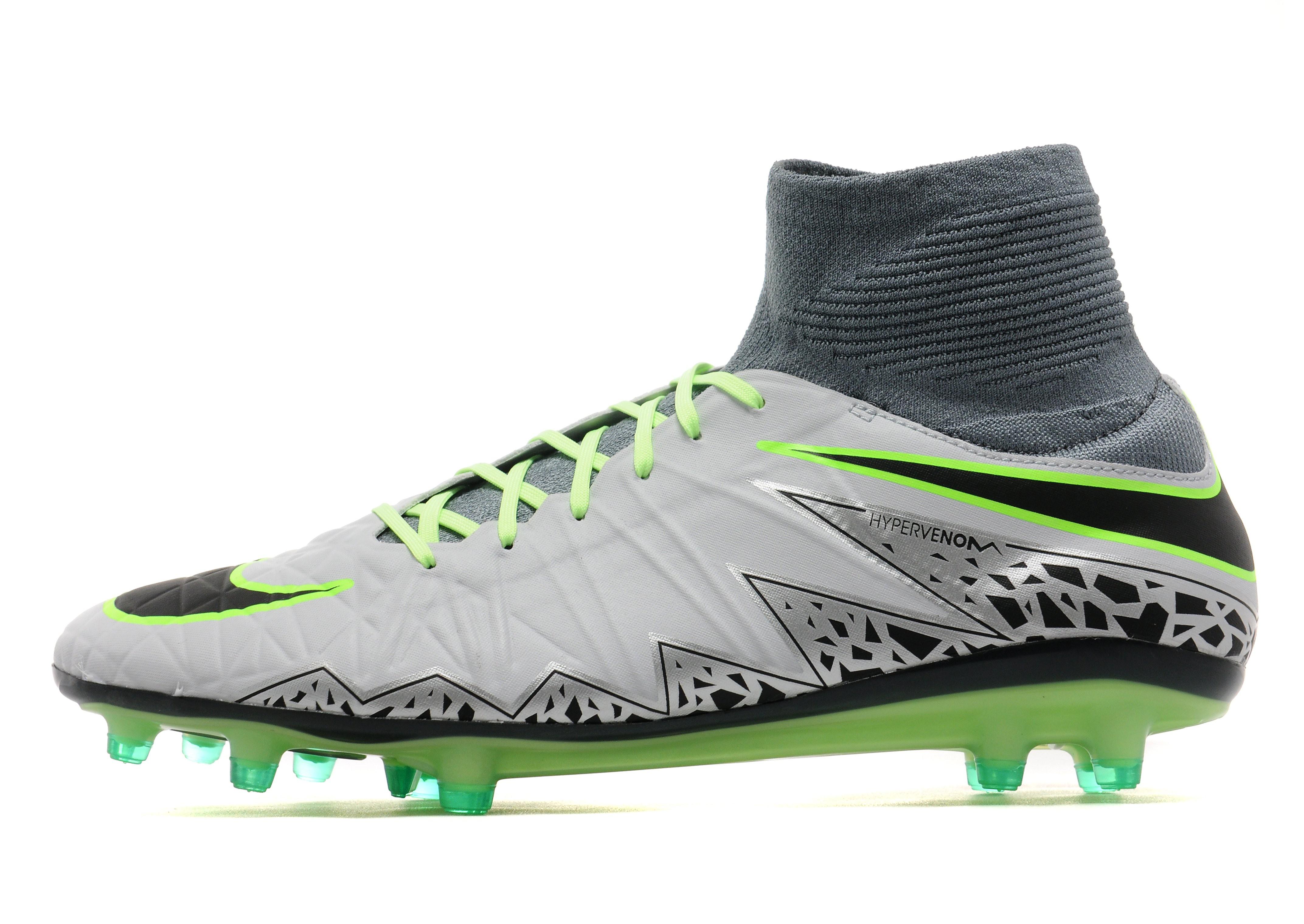 sports shoes 93f49 1cb37 Nike Elite Hypervenom Phatal II DF FG - Grey - Mens