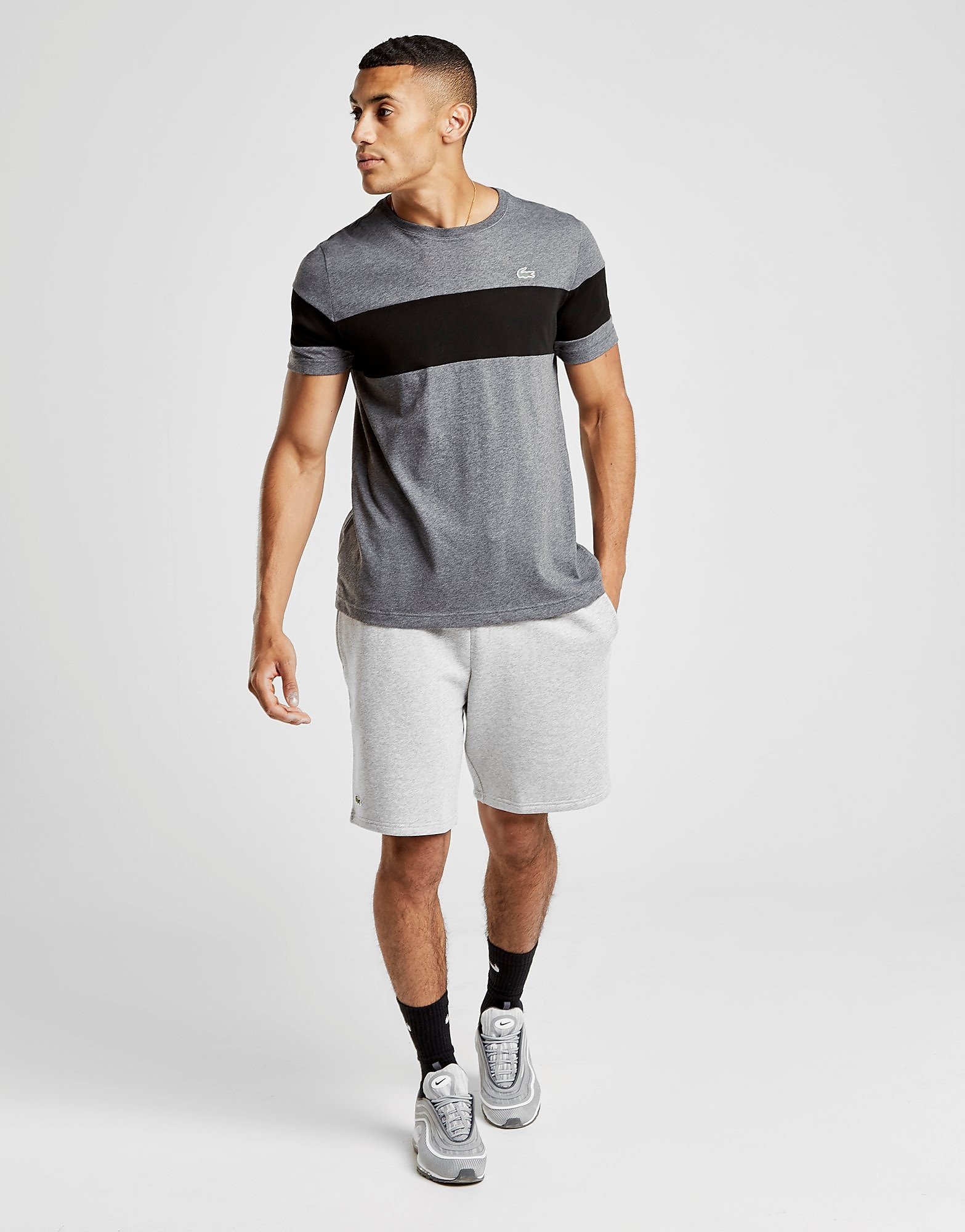 Lacoste Central Stripe T-Shirt Herre