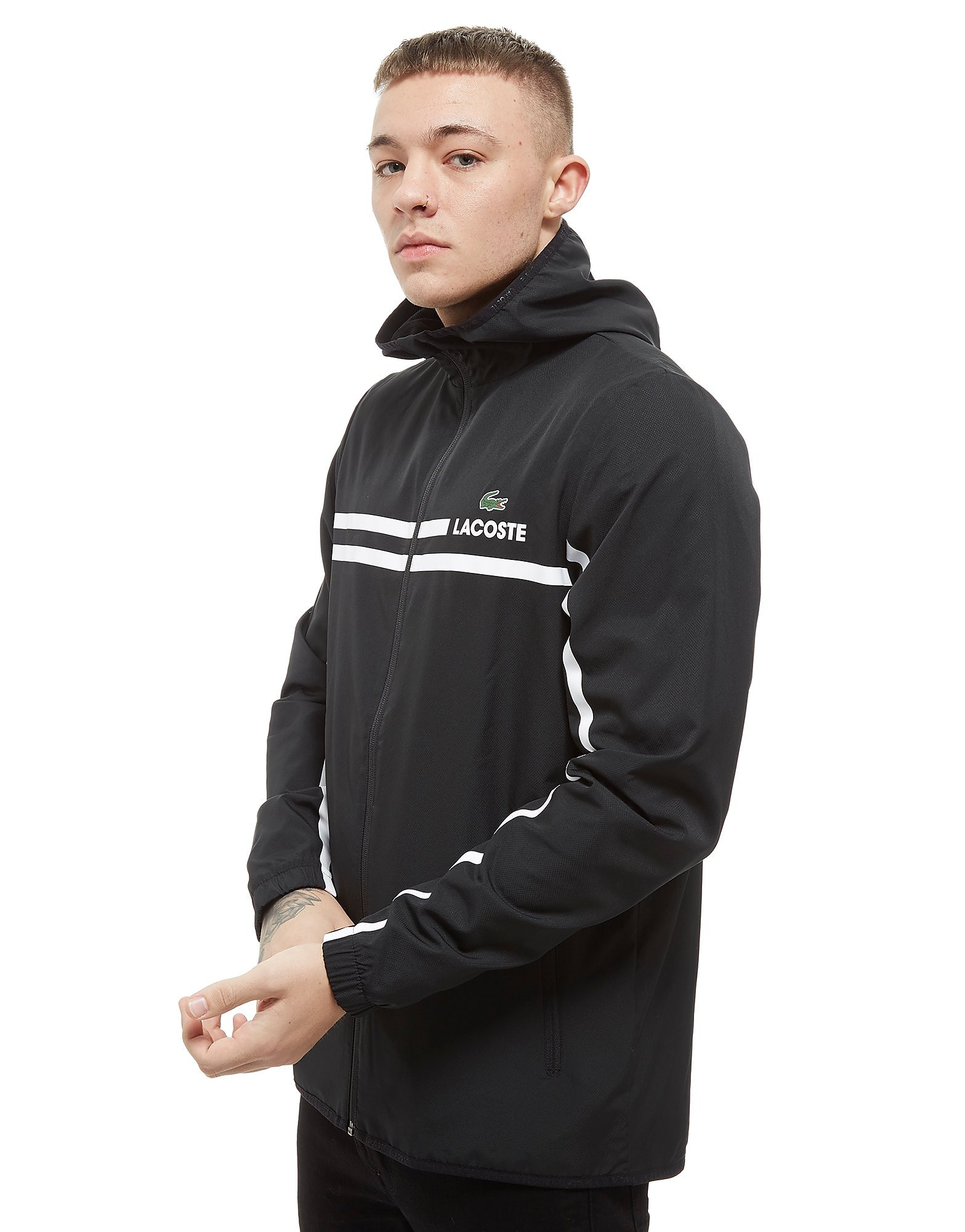 Lacoste Zip Through Hooded Stripe Jakke Herre