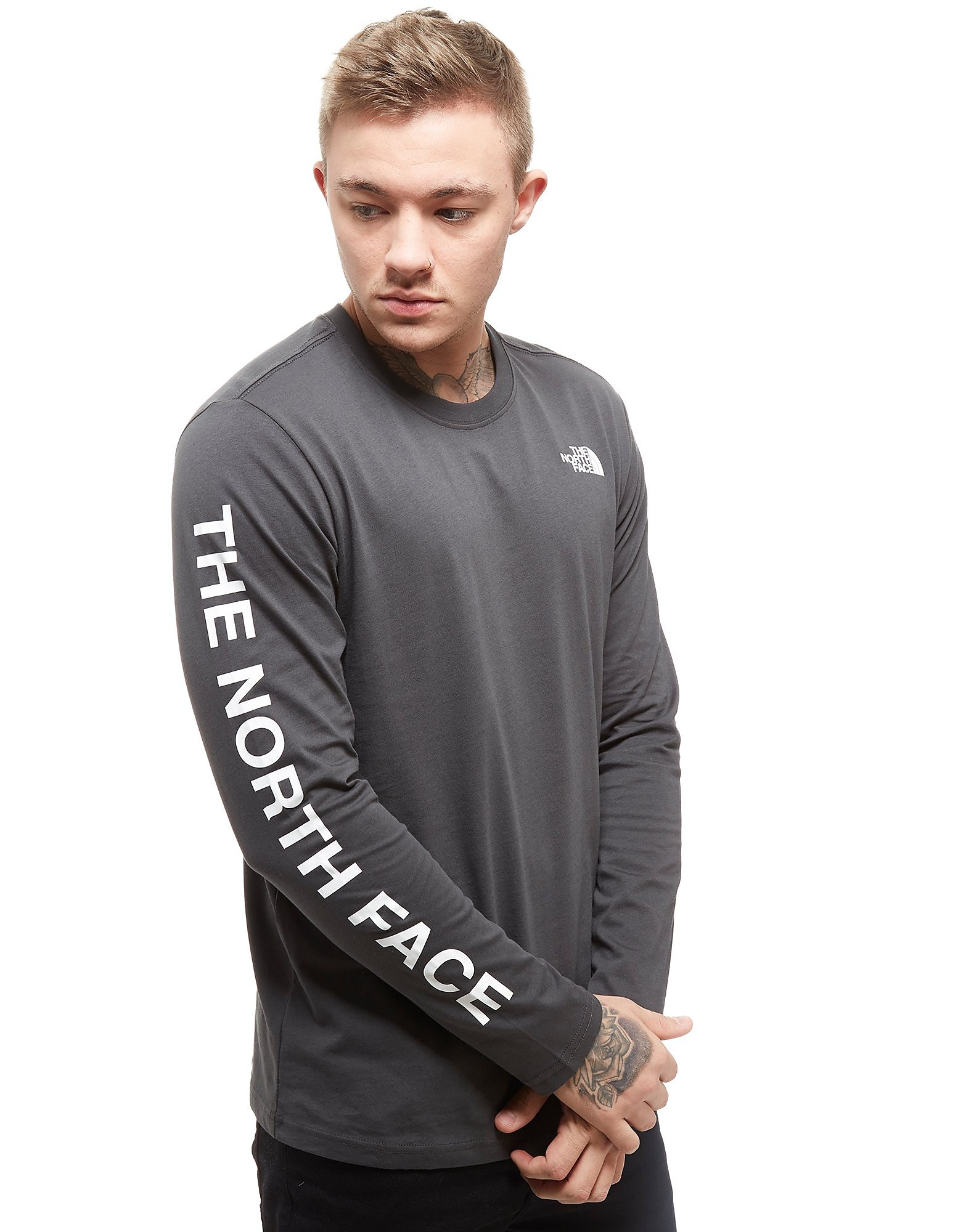 The North Face Printed Langärmeliges T-Shirt Grau