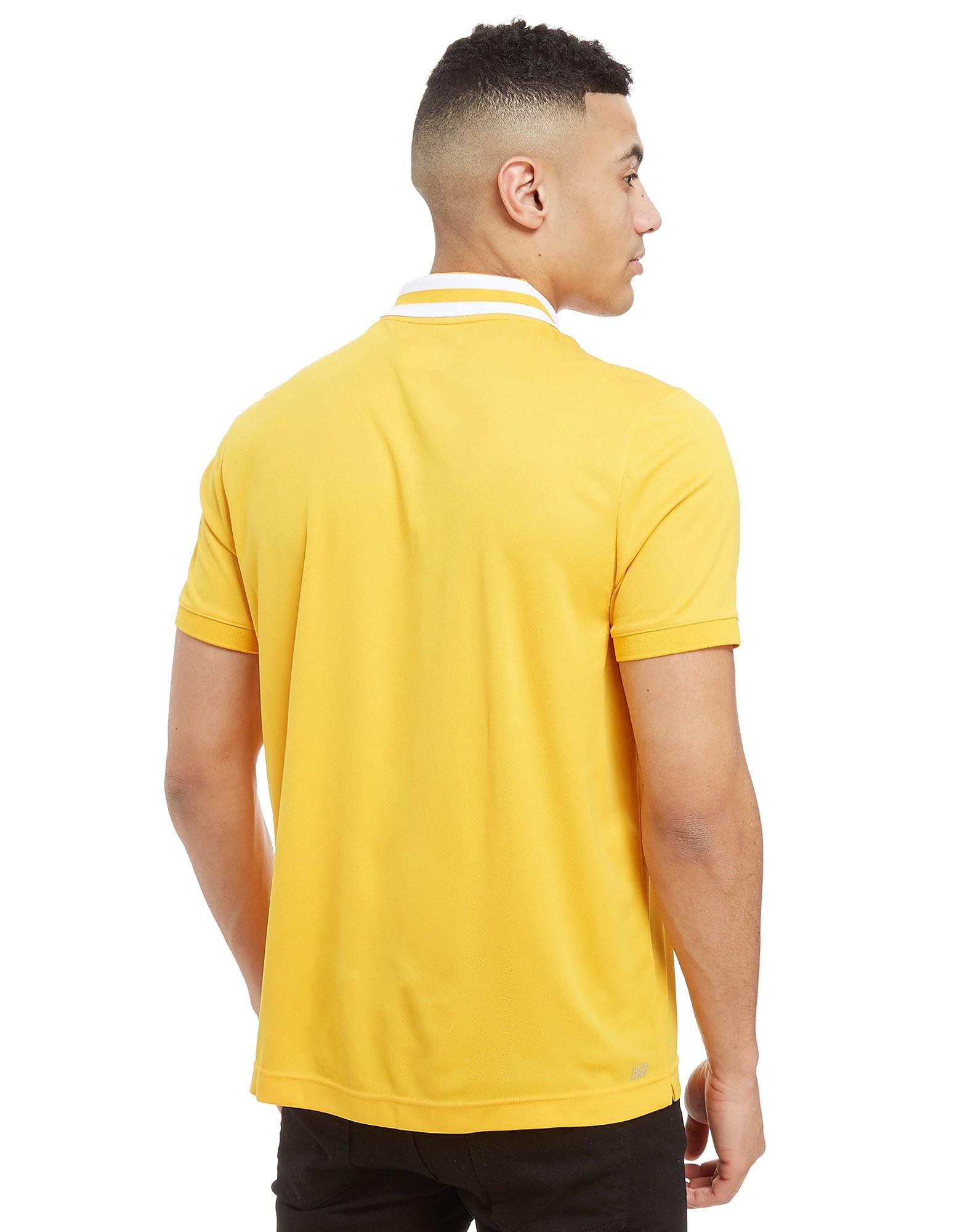 Lacoste Zip Neck Stripe Polo Shirt