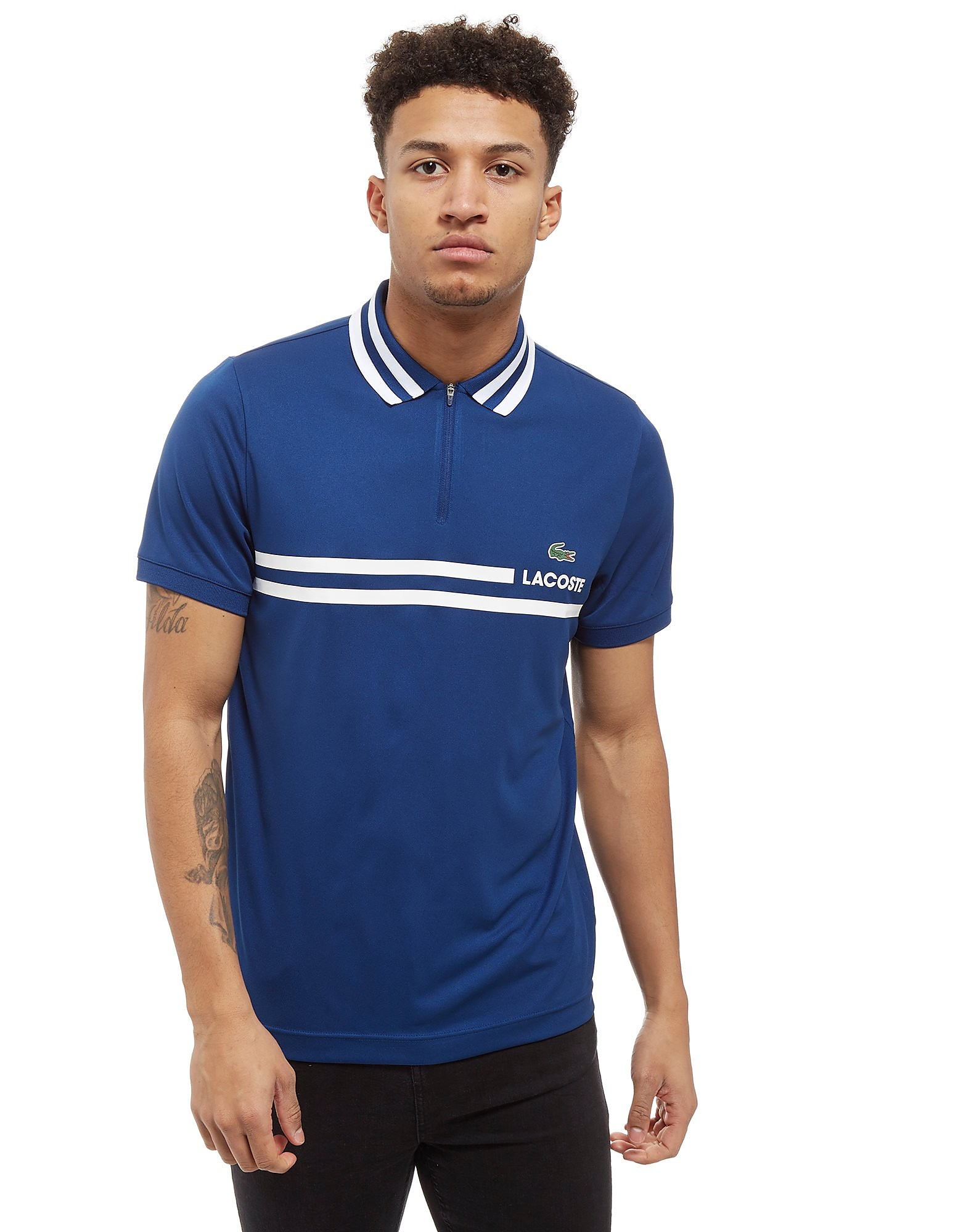 Lacoste polo Zip Neck Stripe
