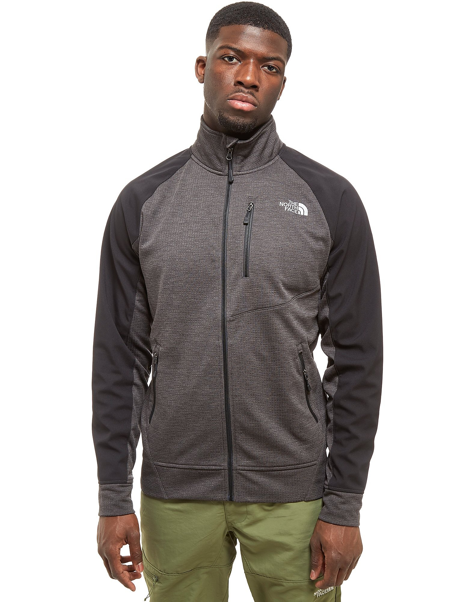 The North Face Veste zippée Tenacious Grid Track Top Homme - Only at JD - Grey, Grey