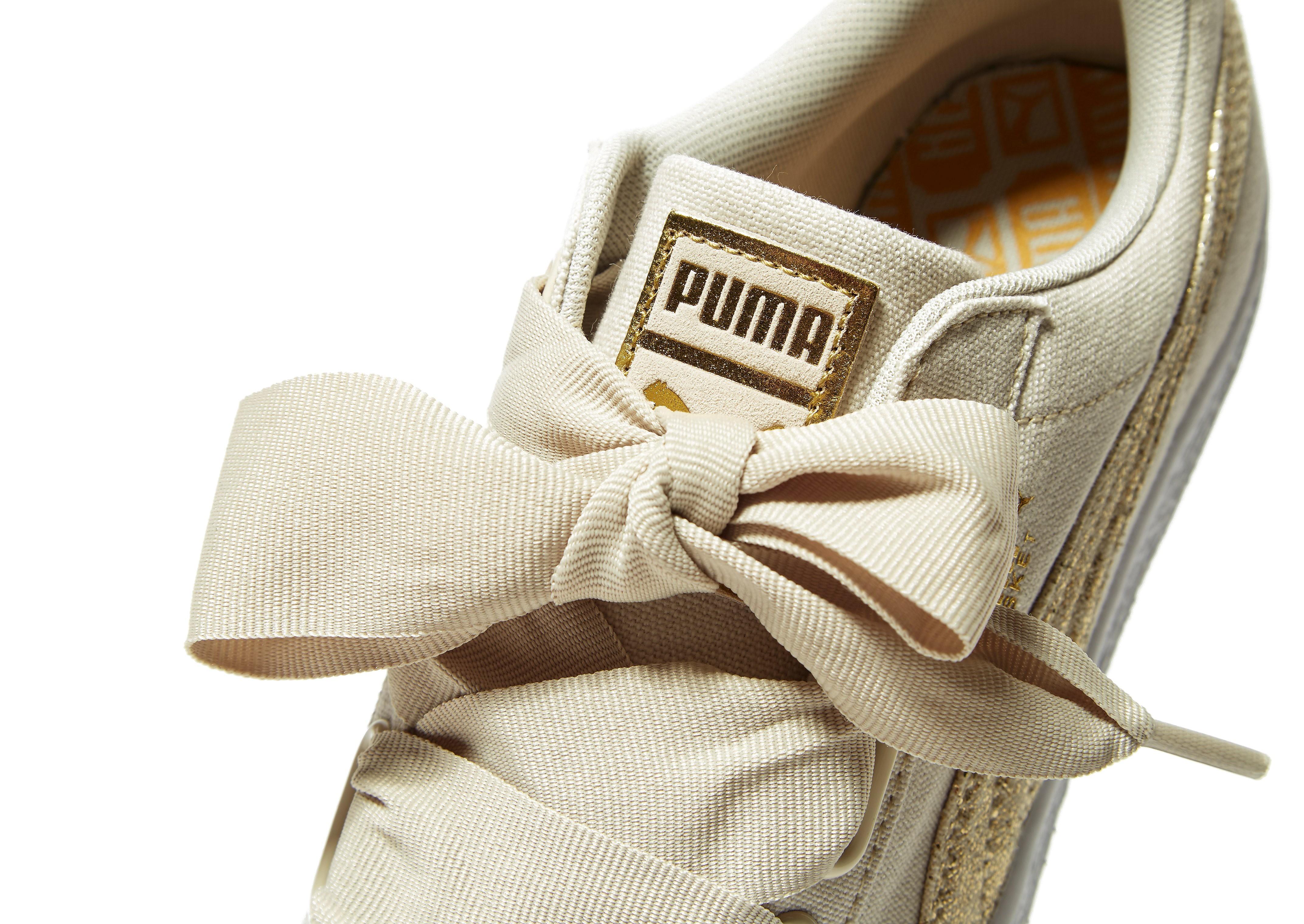 PUMA Basket Heart Canvas Women's