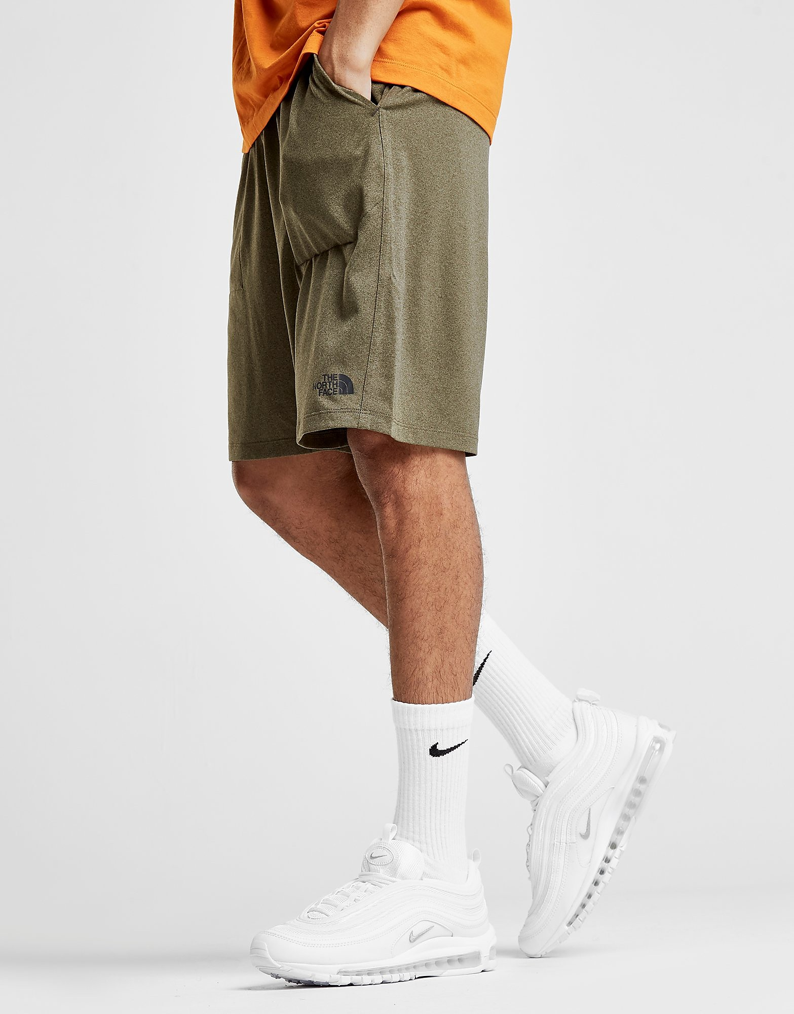 The North Face Reactor Poly Shorts Heren - alleen bij JD - Khaki - Heren