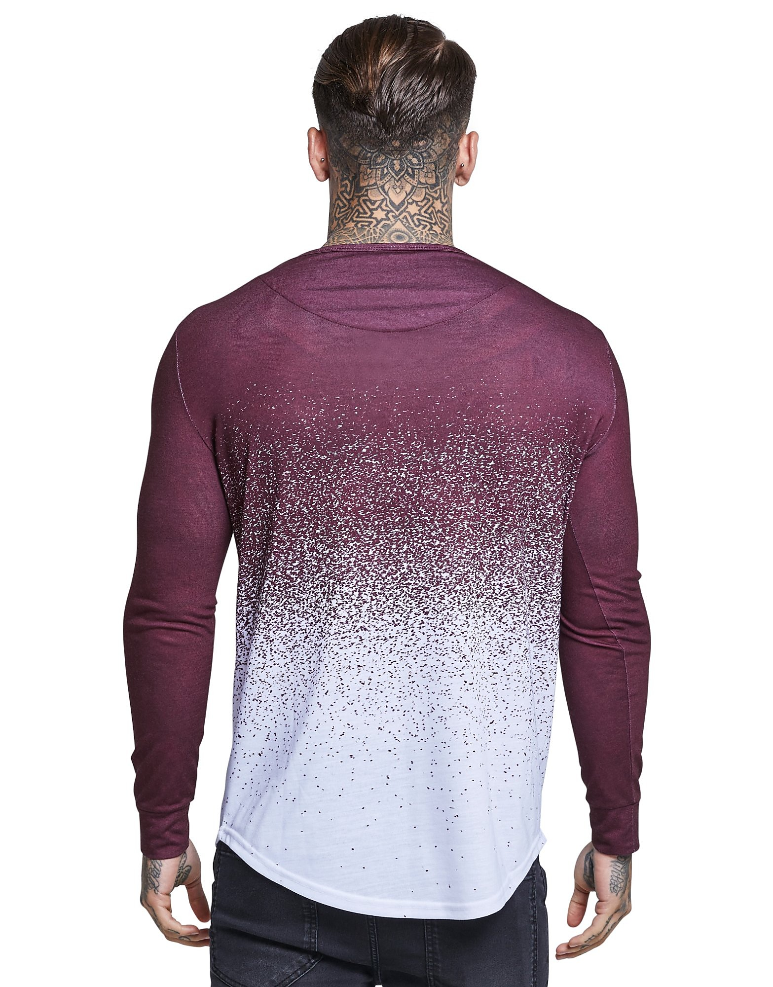SikSilk Fade Long Sleeve T-Shirt