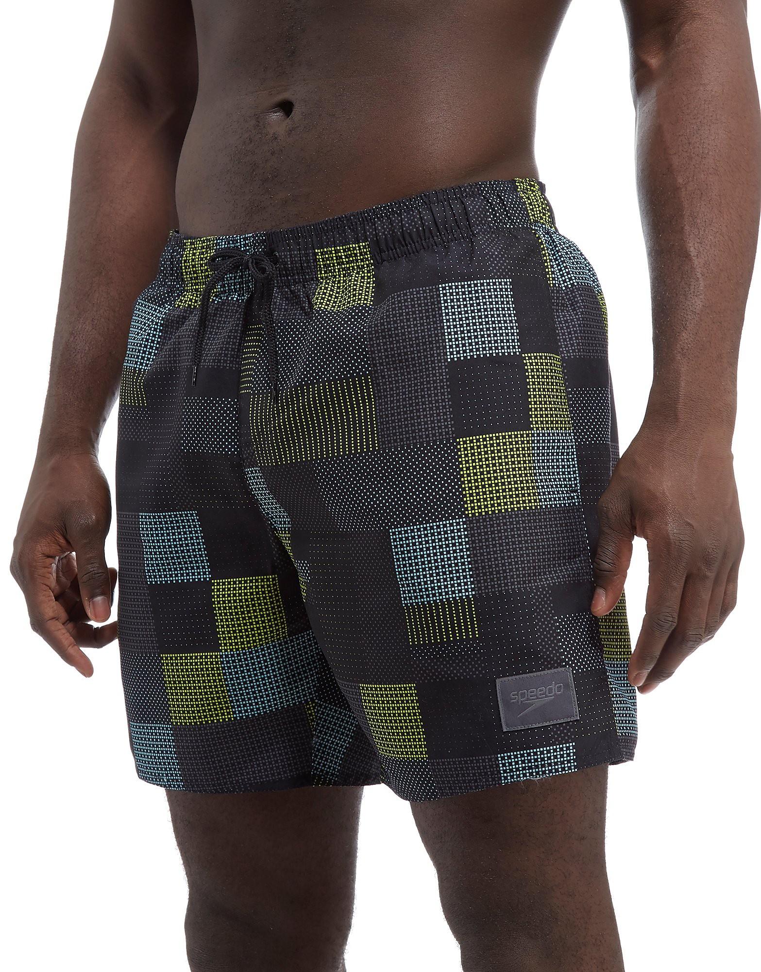 Speedo Printed Check Leisure Swim Shorts