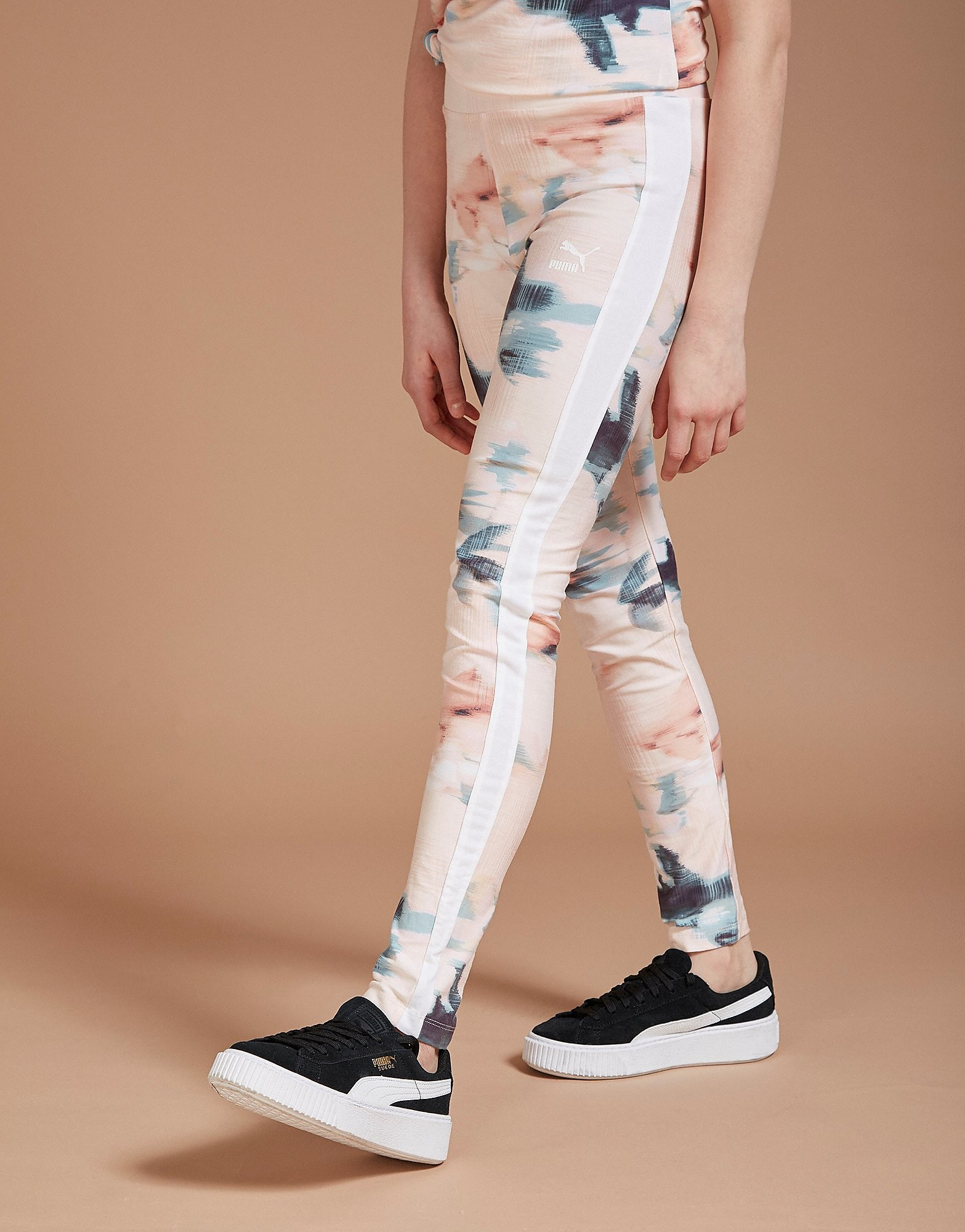 PUMA Girls' Floral All-Over-Print Leggings