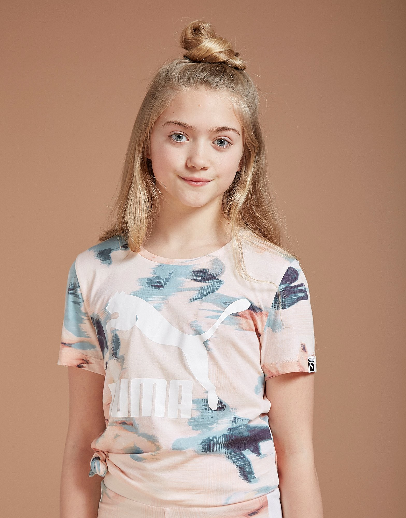 PUMA T-shirt Girls' Classic All Over Print Junior