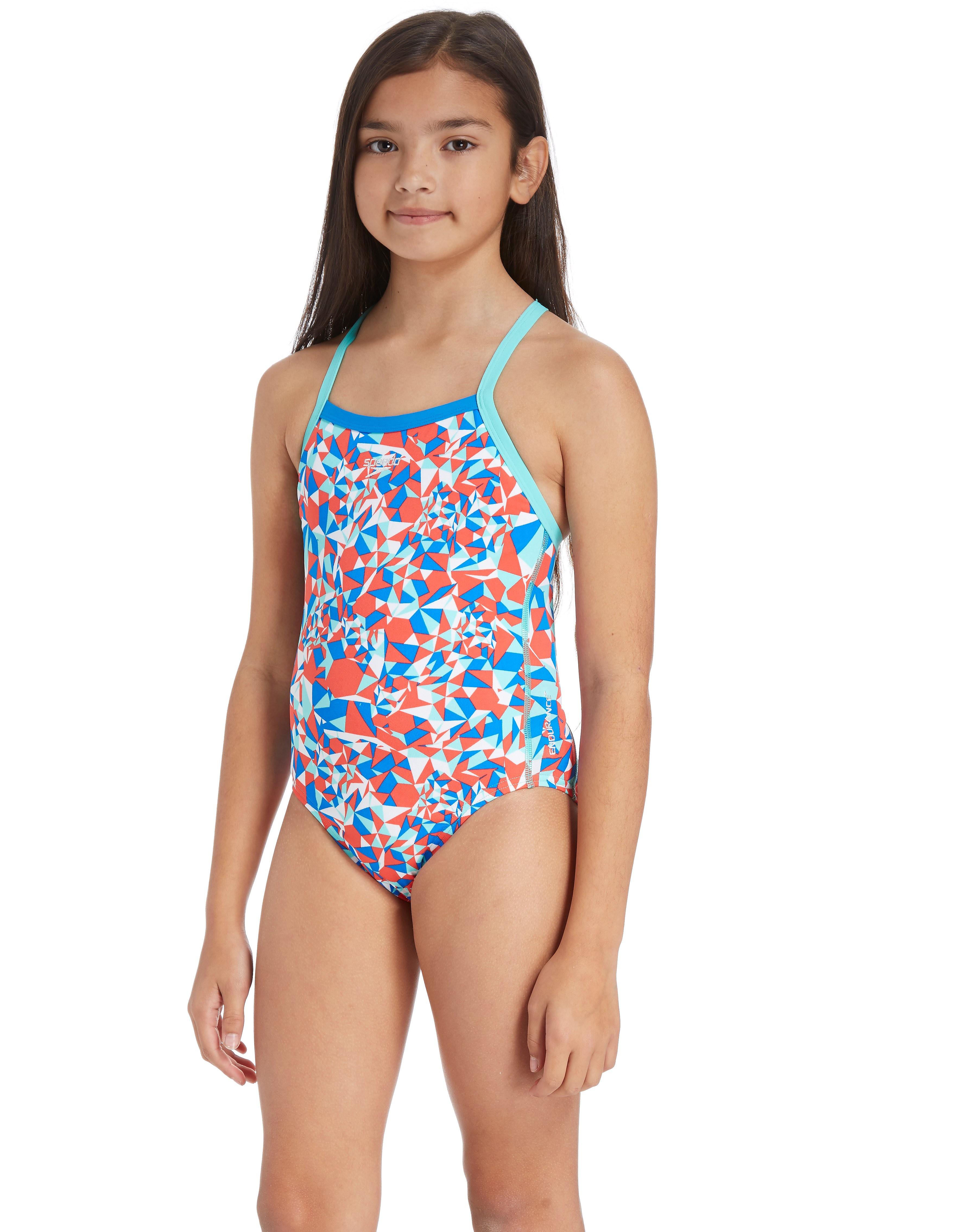 Speedo Stellar Fire Thinstrap Swimsuit Junior