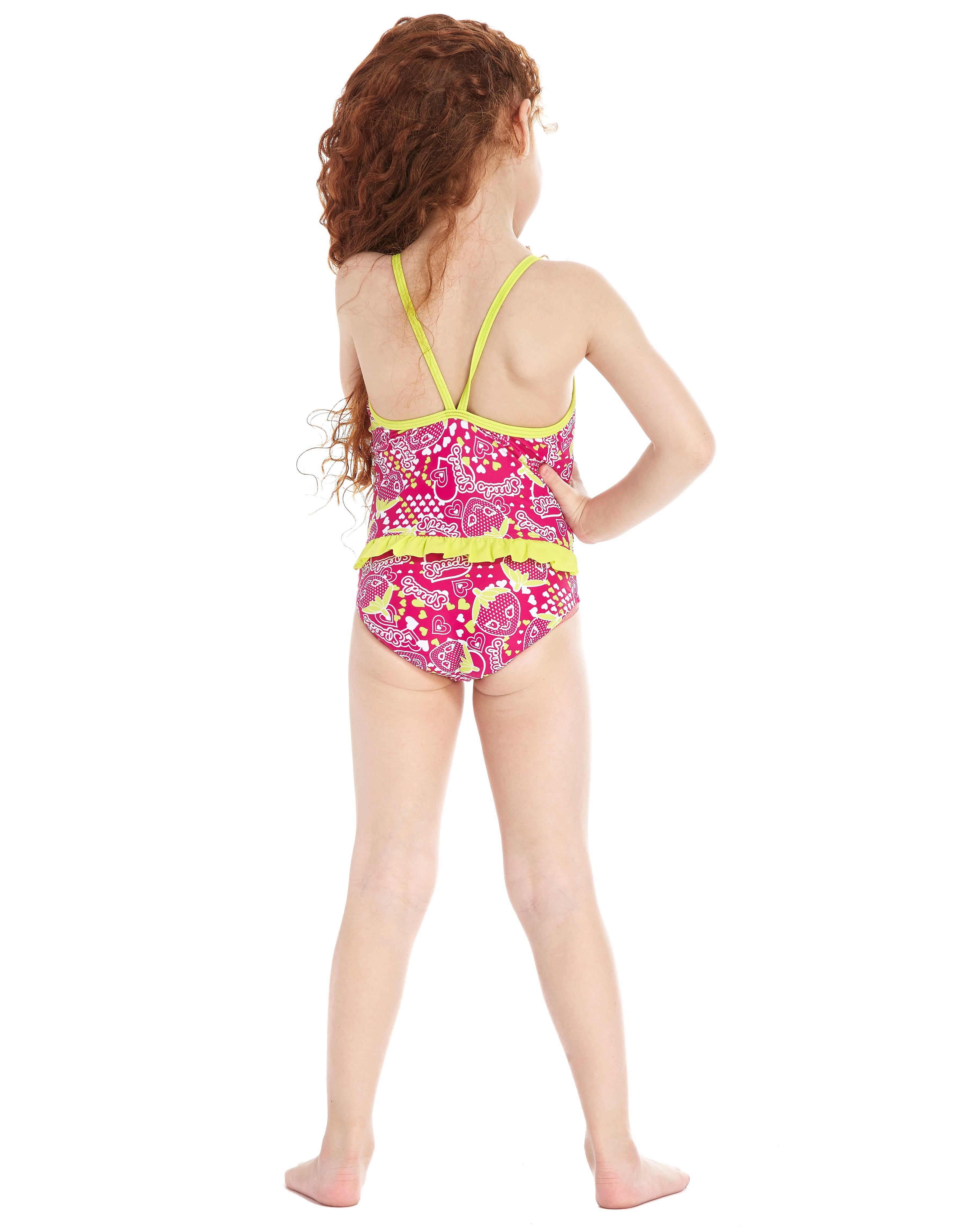 Speedo Starfizz Essential Frill Swimsuit Children