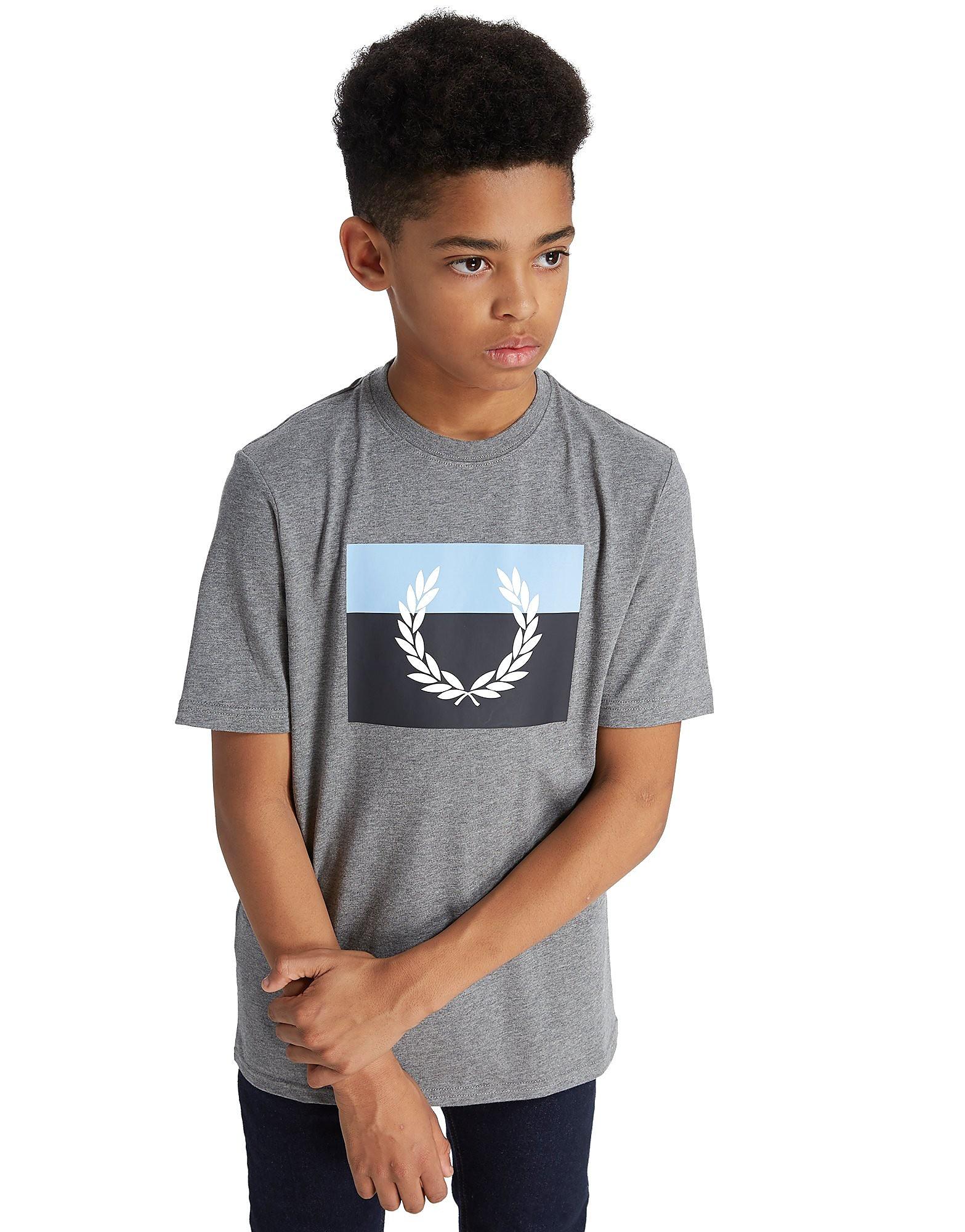 Fred Perry Large Laurel T-Shirt Junior Grijs Kind