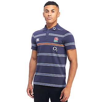 Canterbury England RFU Stripe Polo Shirt