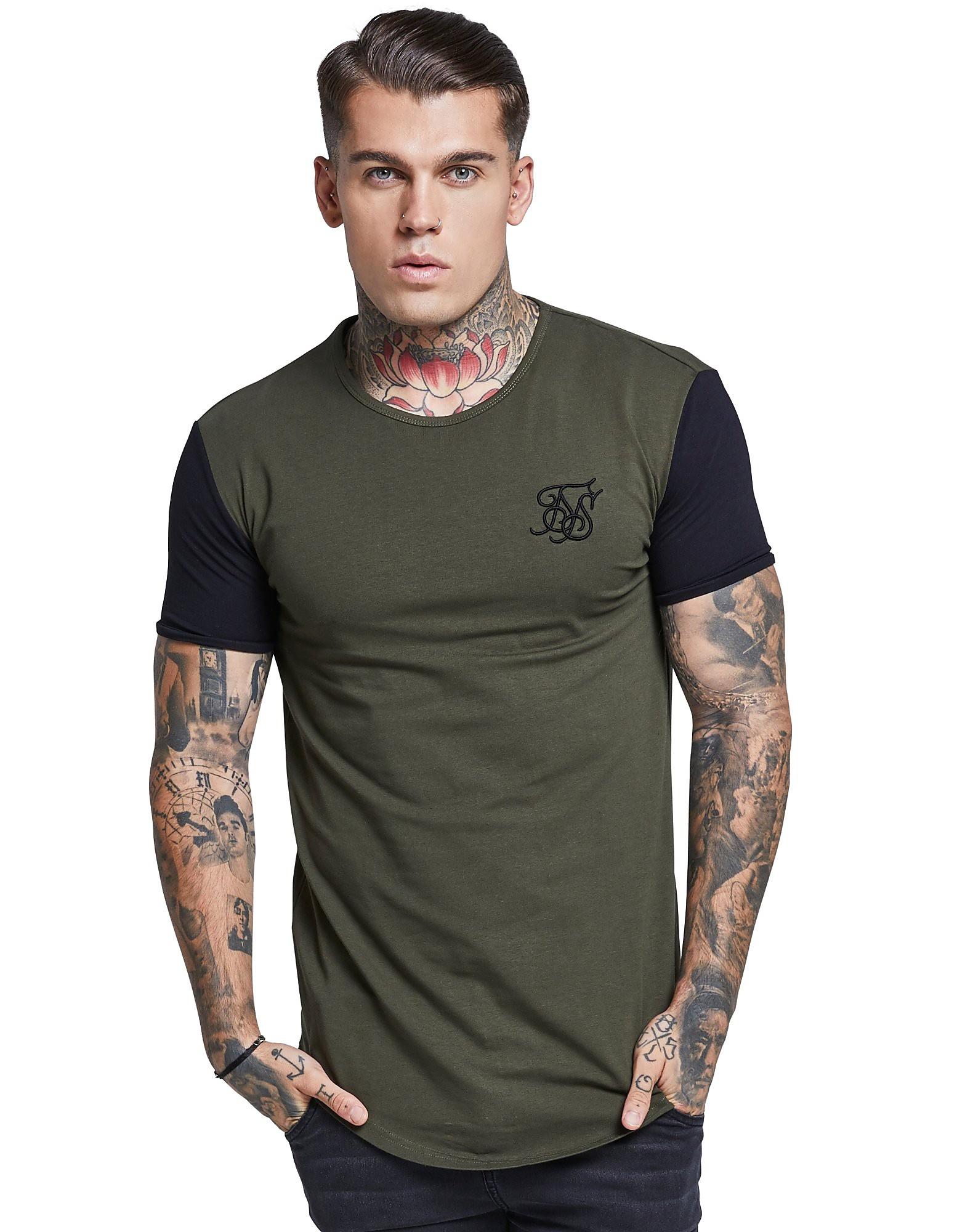 SikSilk Contrast T-Shirt Homme
