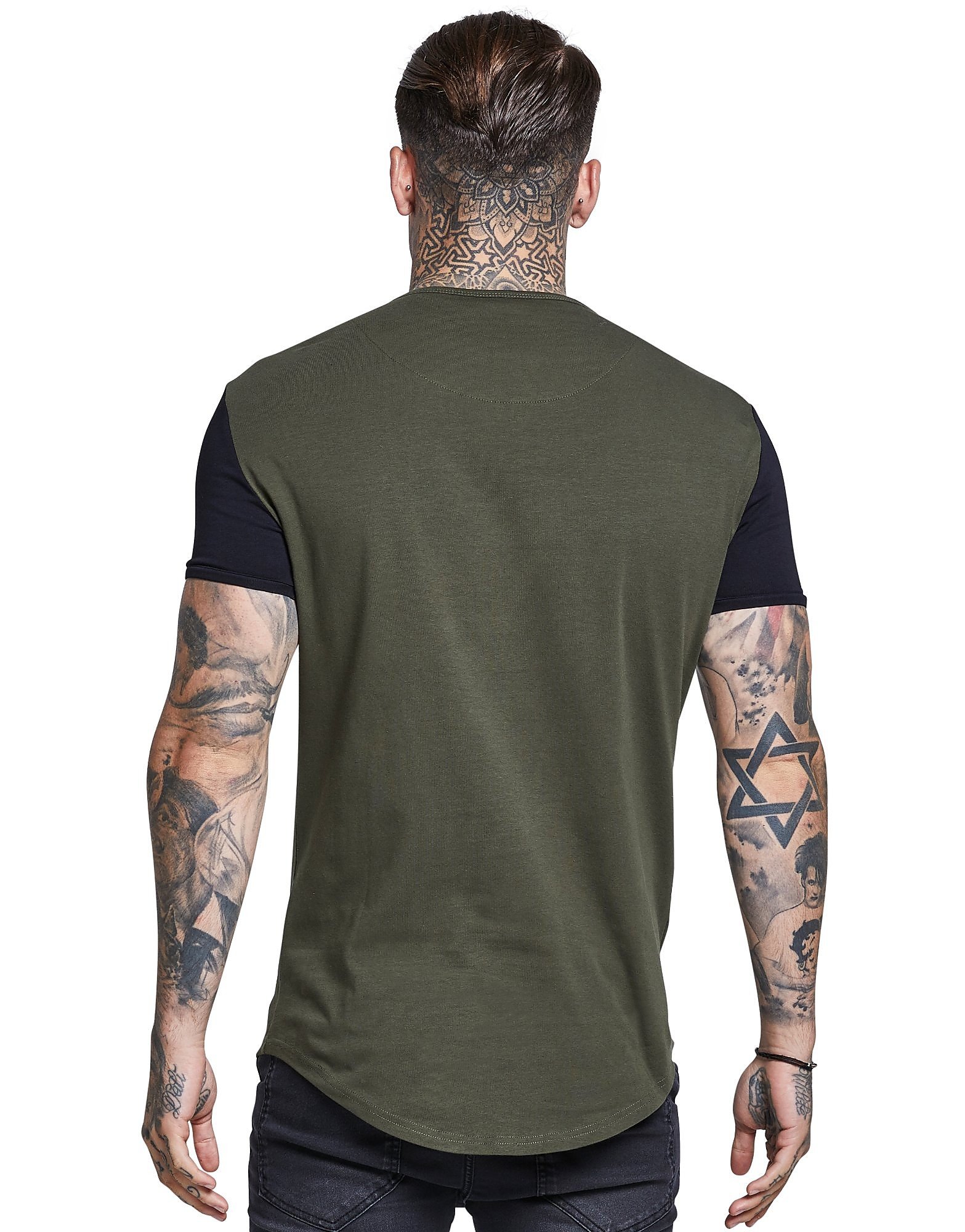 SikSilk Contrast T-Shirt Heren