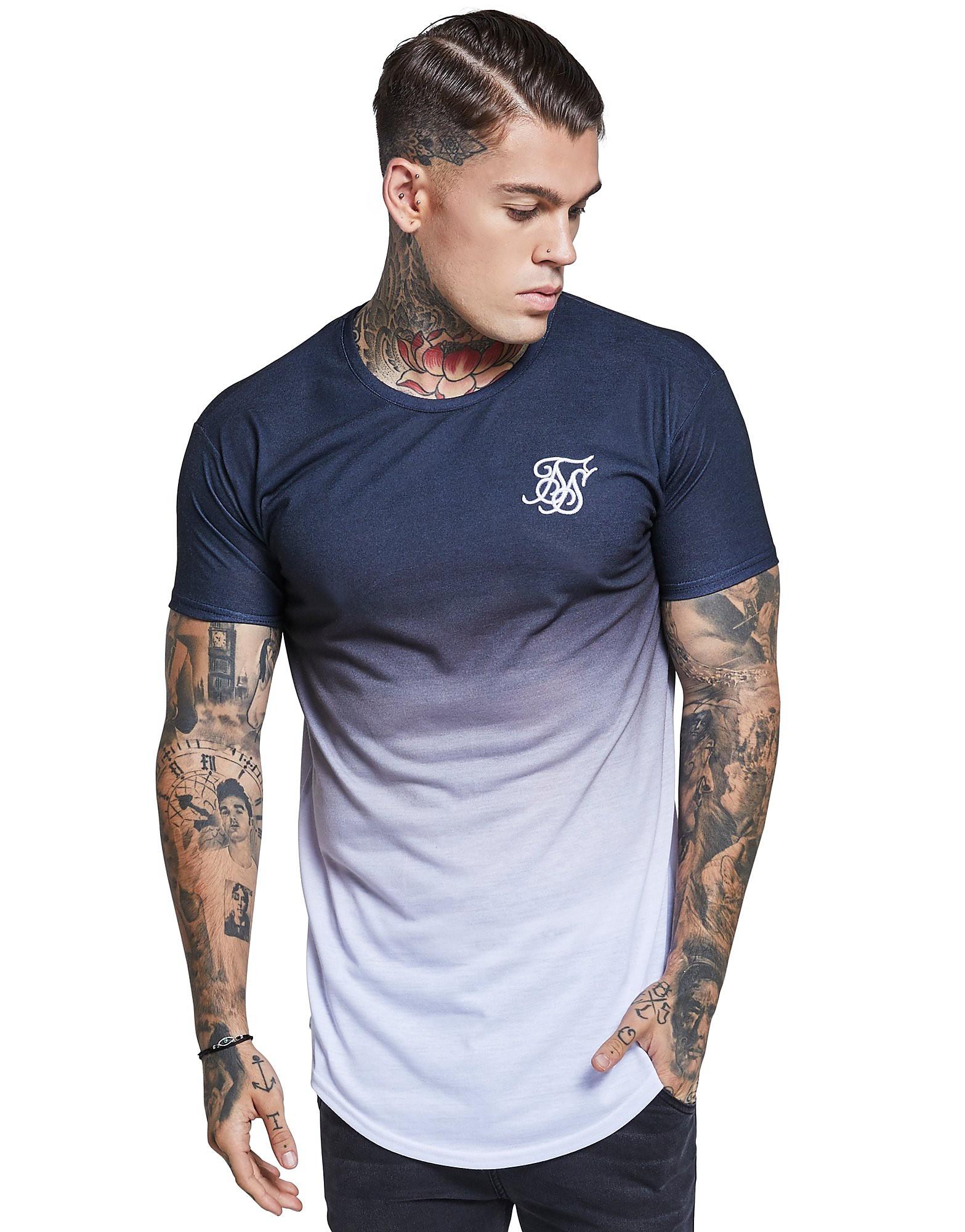 SikSilk Watercolour Fade T-Shirt