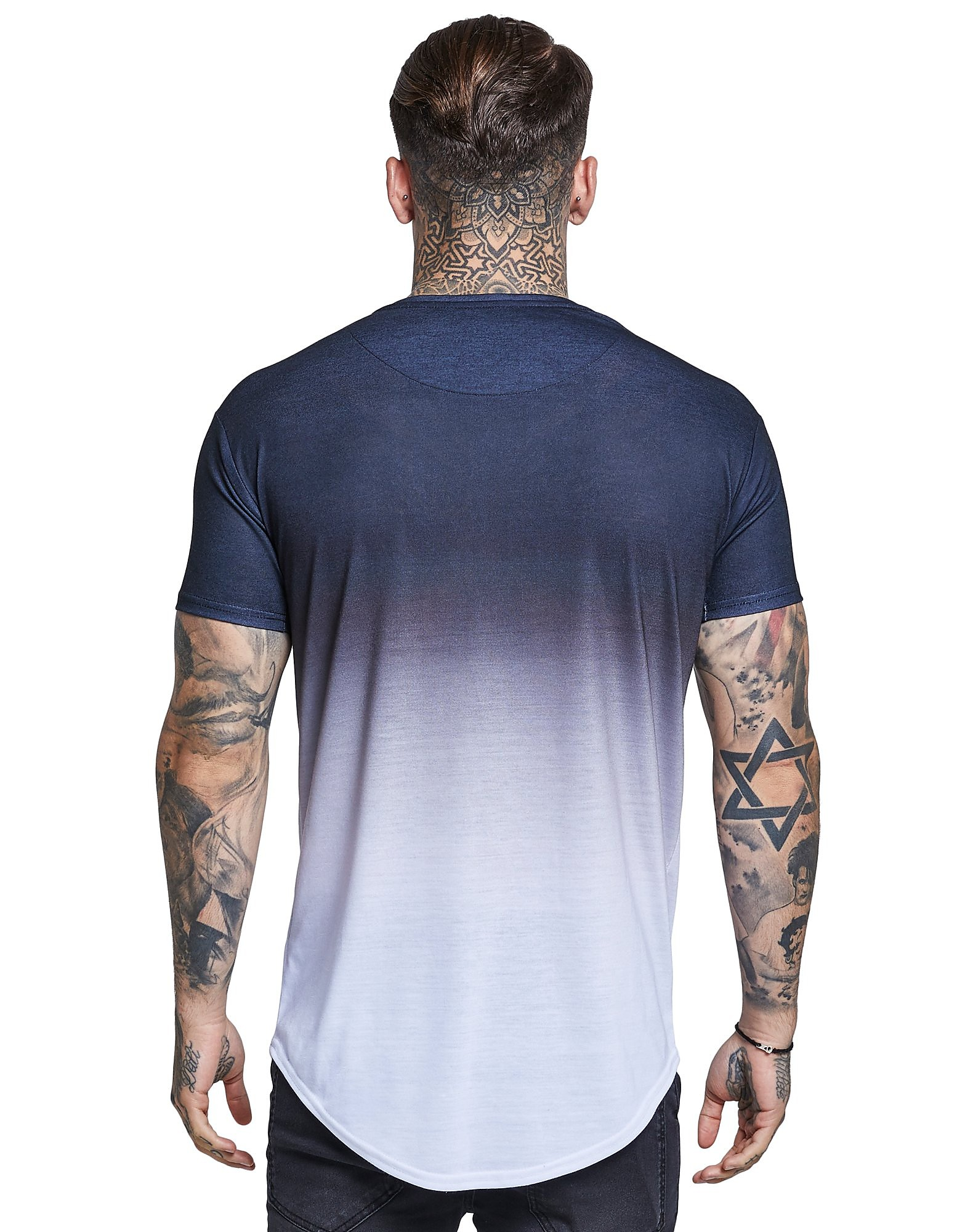 SikSilk Watercolour Fade T-Shirt