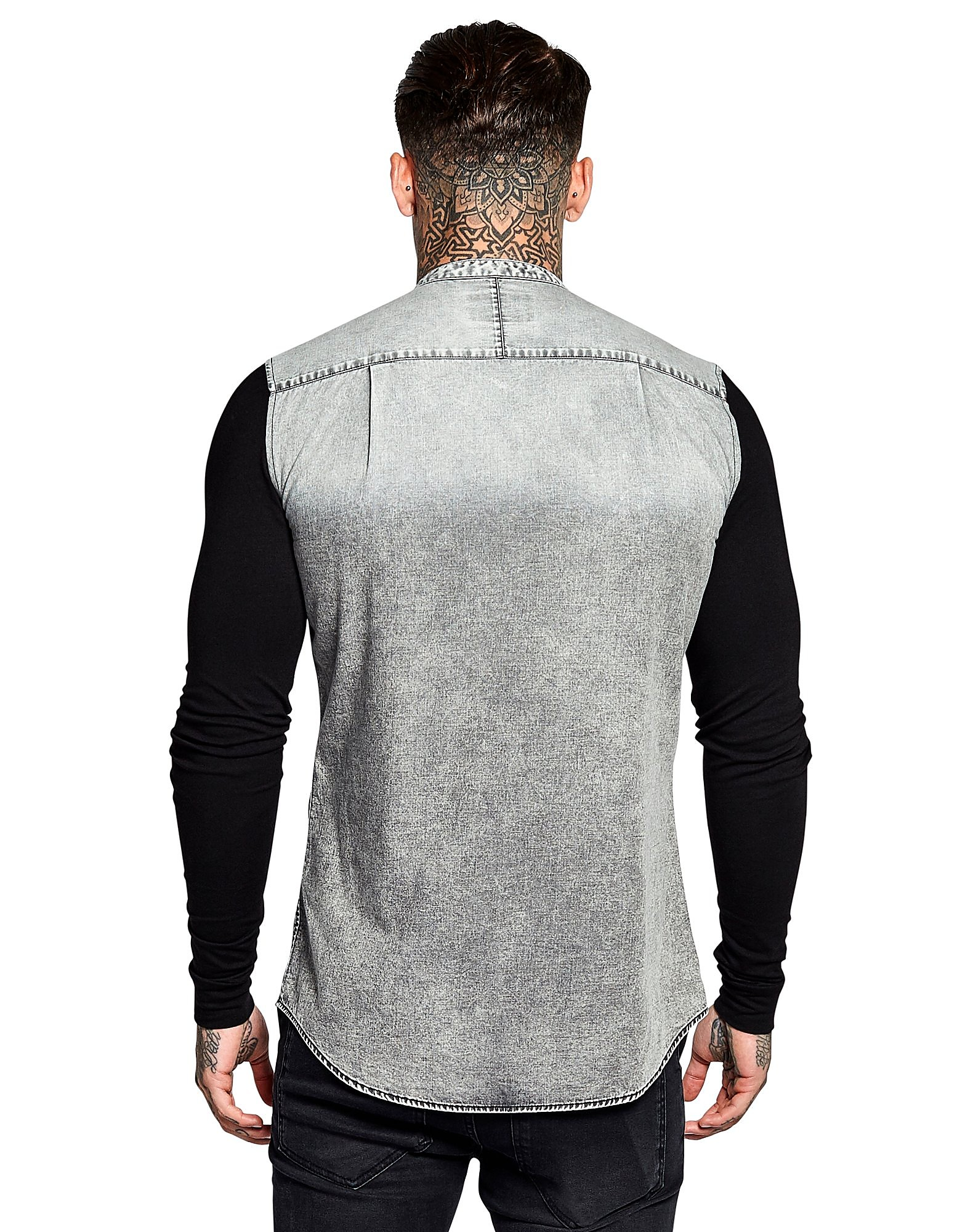 SikSilk Denim Long Sleeve Shirt