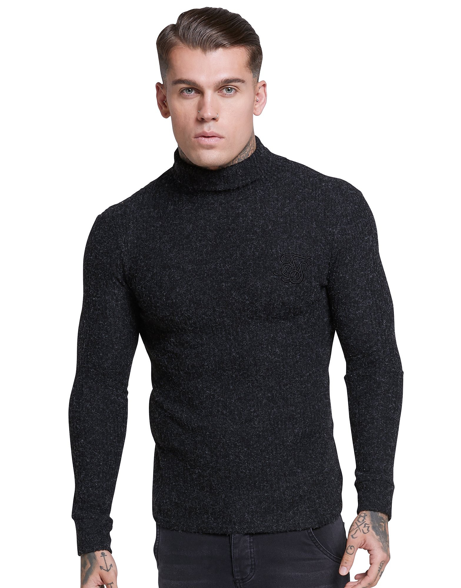 SikSilk Roll Neck Knitted Jumper Heren