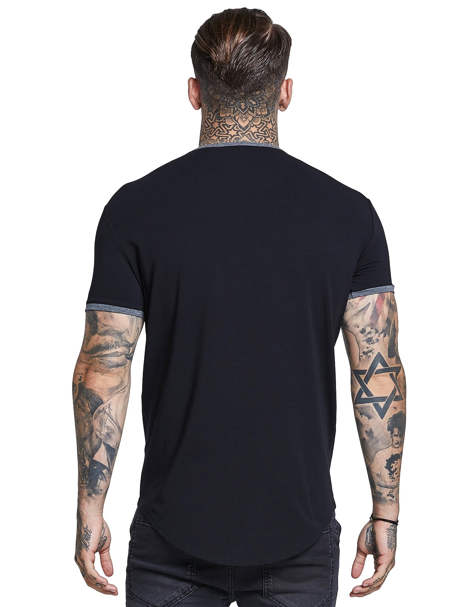 SikSilk Short Sleeve Ringer T-Shirt Heren