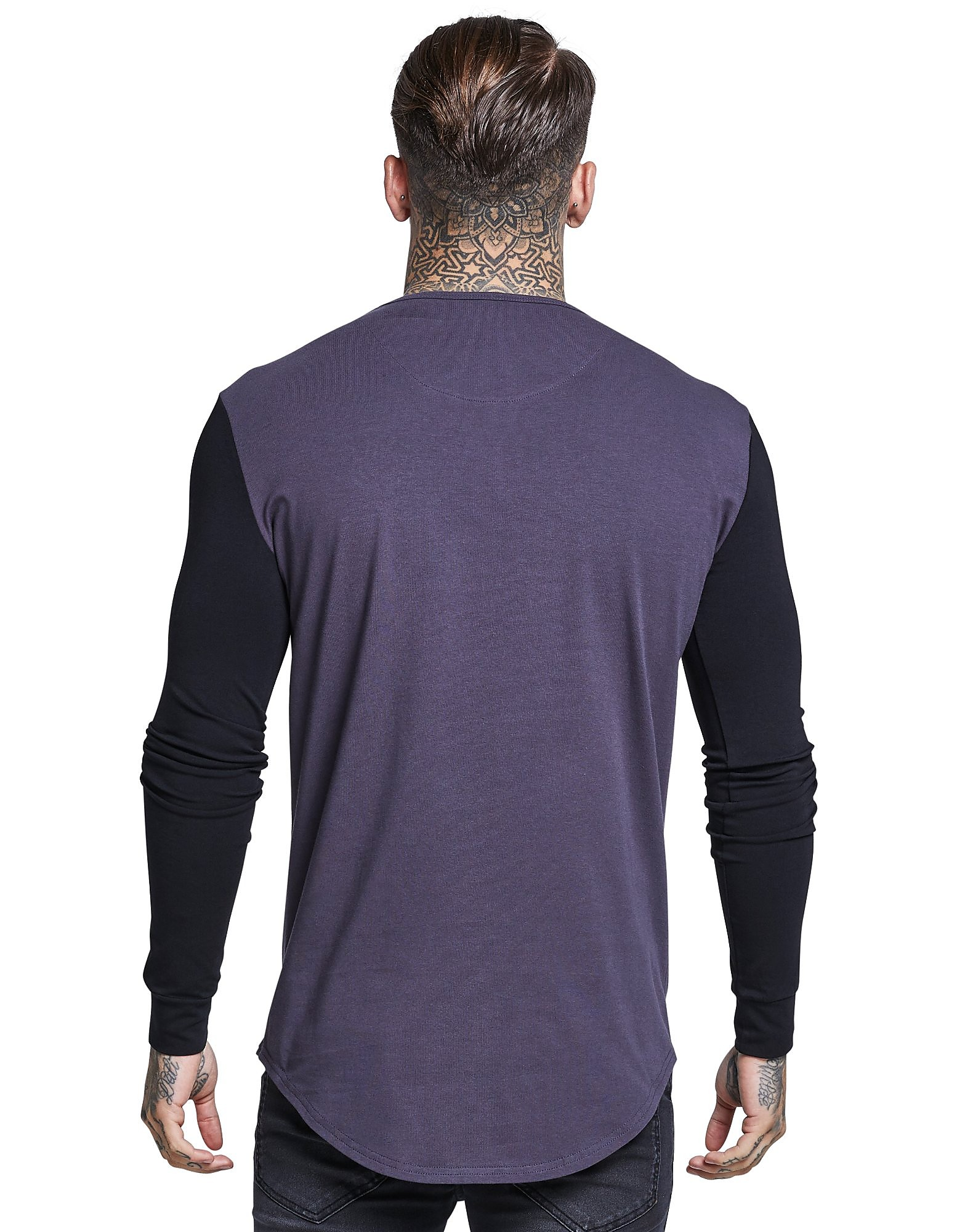 SikSilk Langarm Kontrast T-Shirt