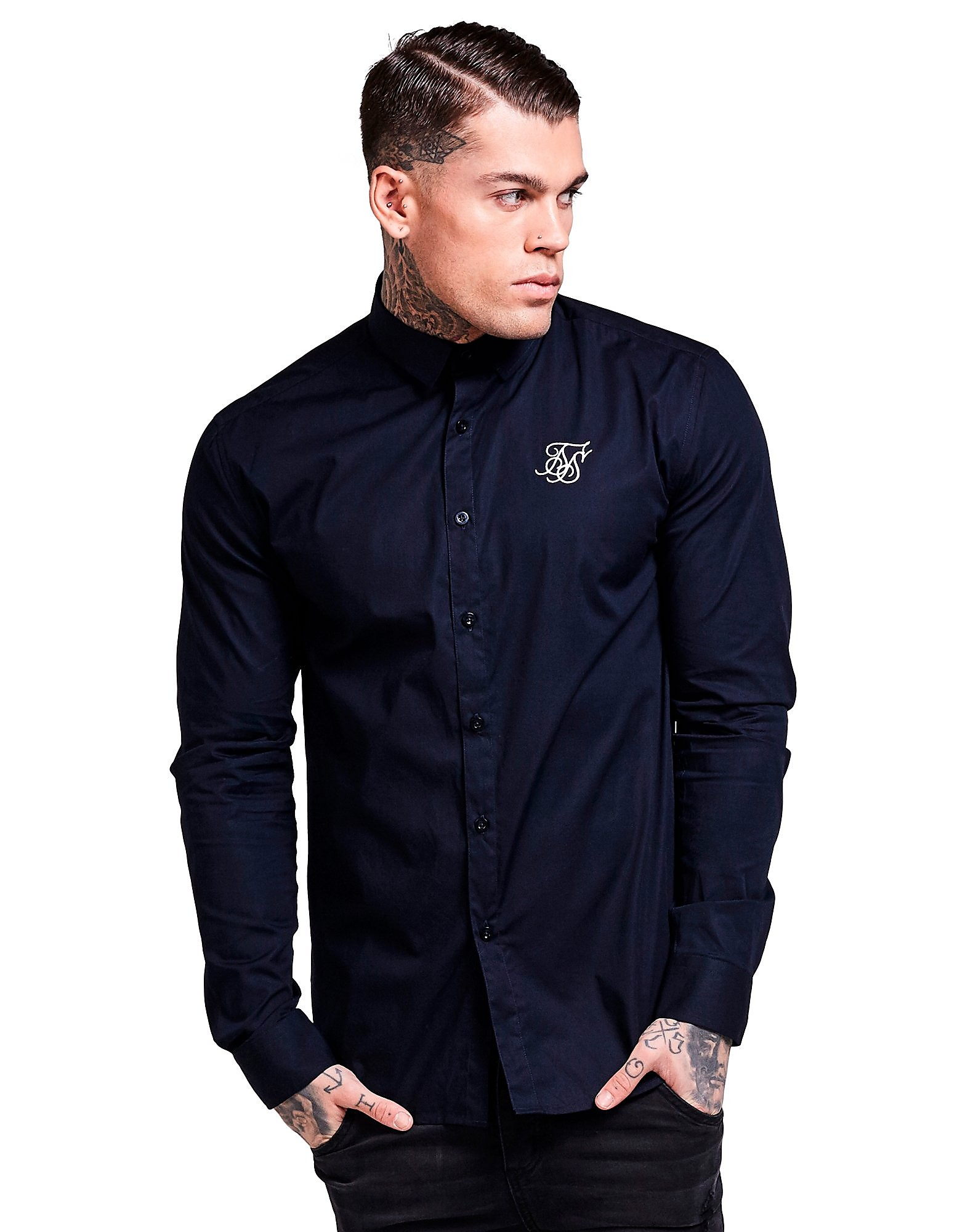 SikSilk Long Sleeve Stretch Shirt