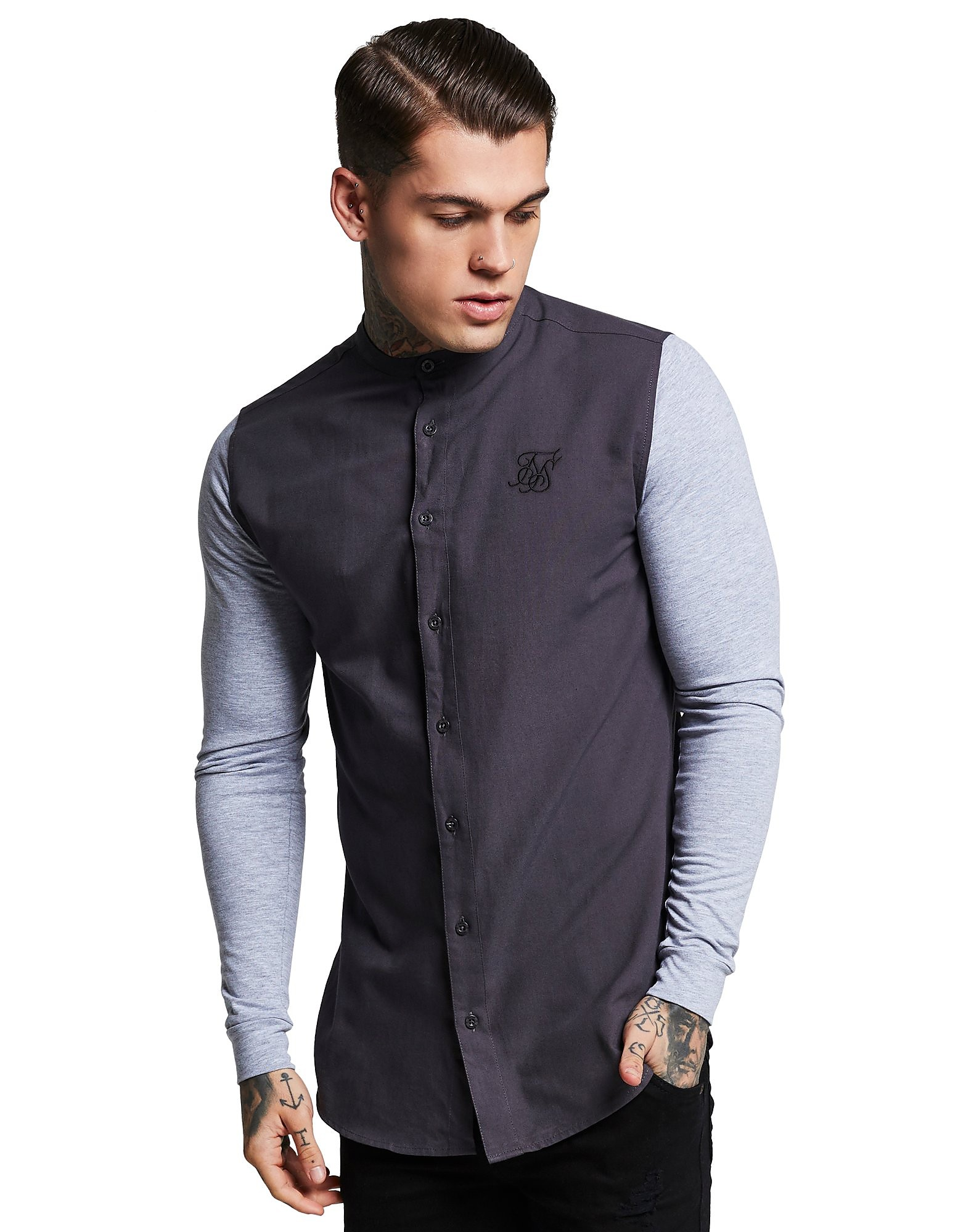 SikSilk Long Sleeve Oxford Shirt