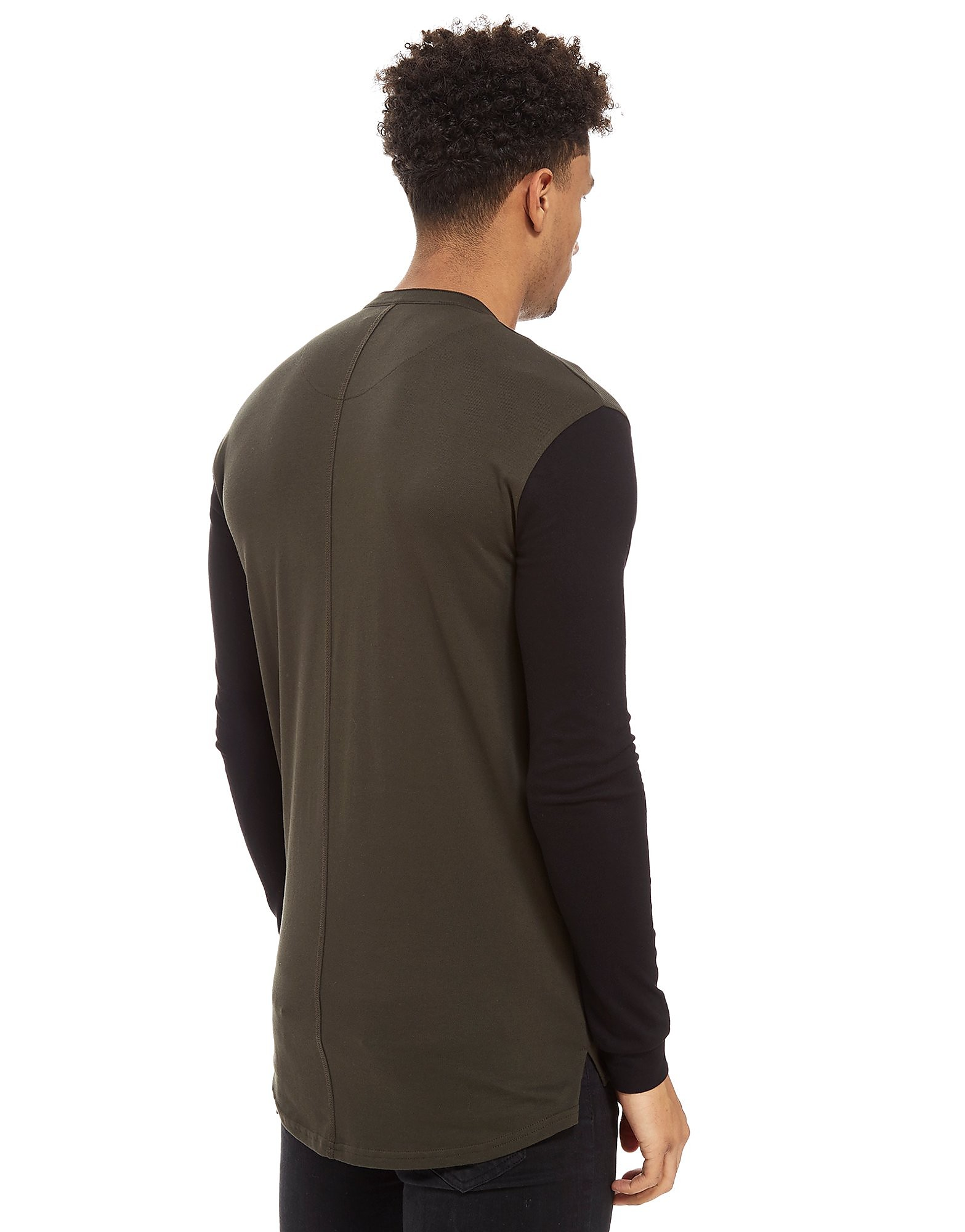 SikSilk Long Sleeve Collarless Polo