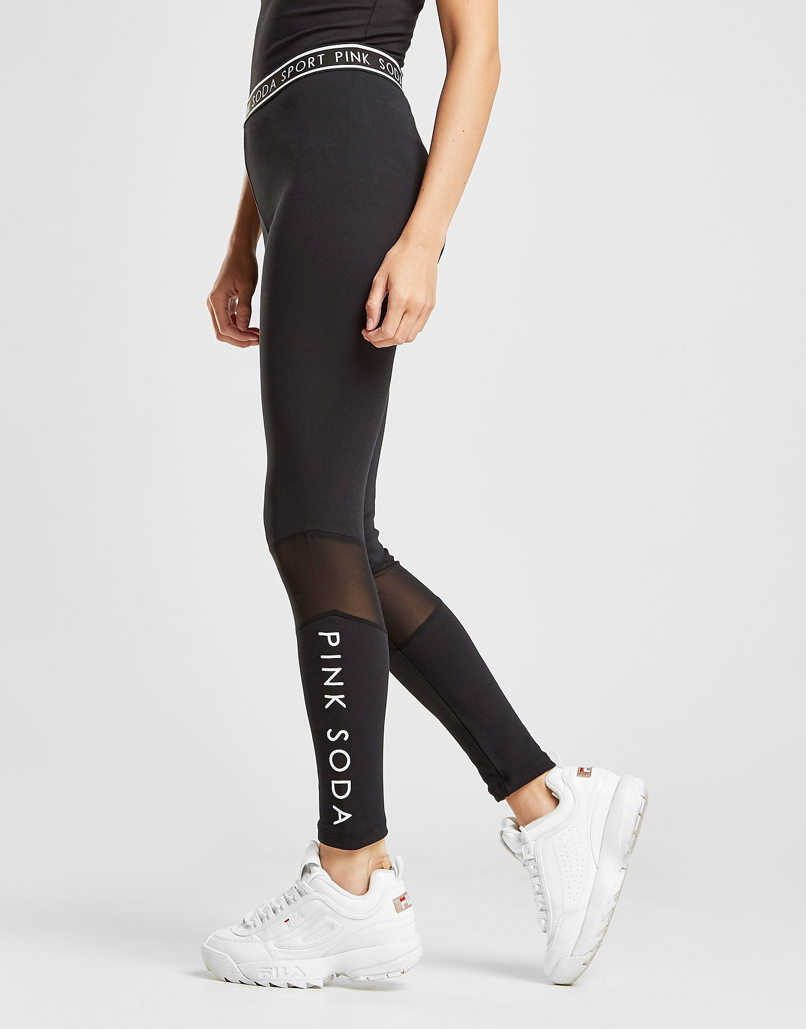 Pink Soda Sport Mesh Cut Lifestyle Leggings