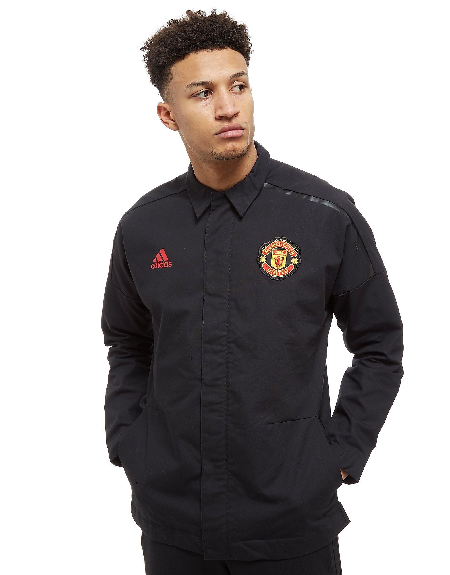 adidas Chemise Manchester United FC 2018 Z.N.E. Homme - Noir, Noir