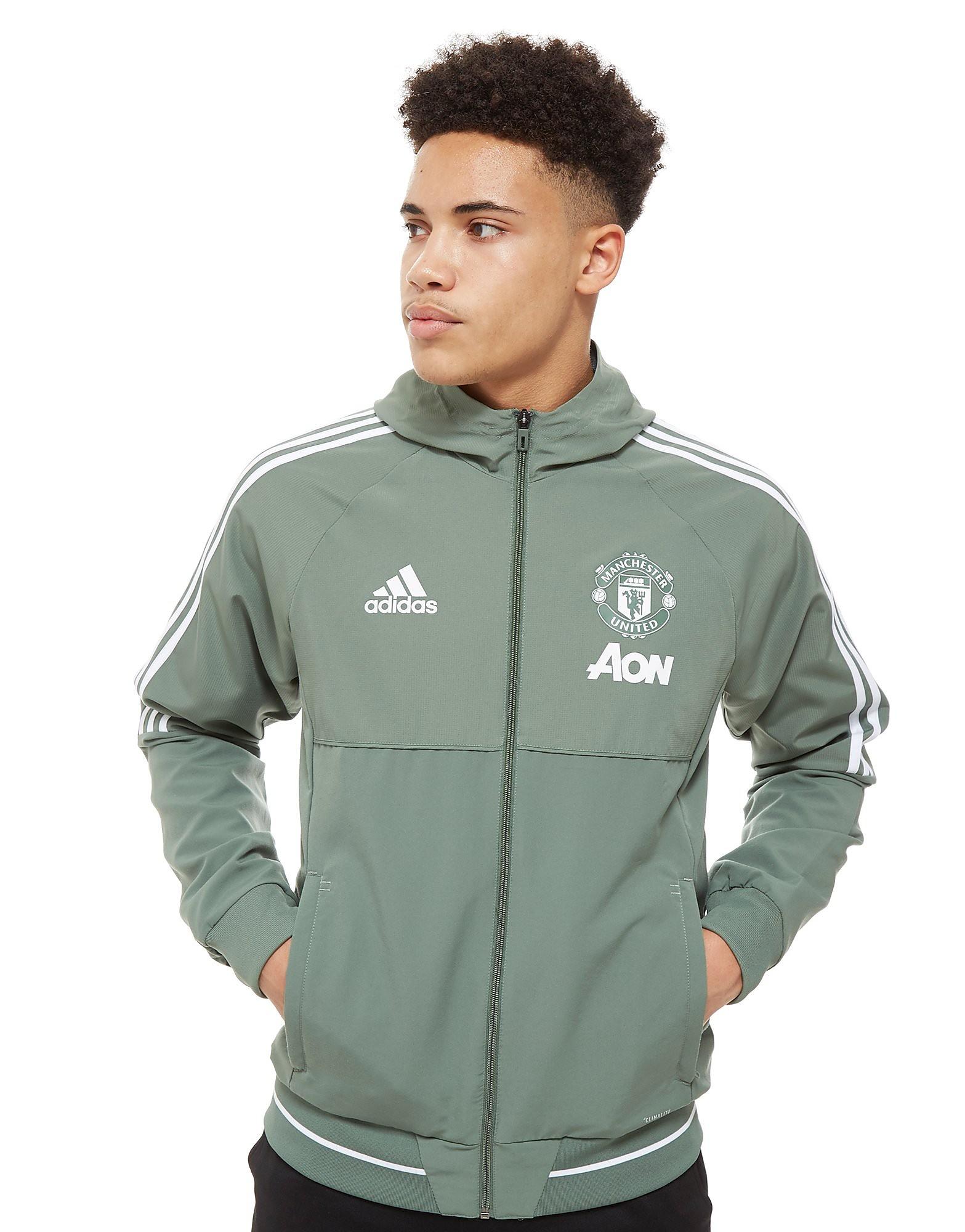 adidas Manchester United FC Präsentationsjacke Grün-Weiß