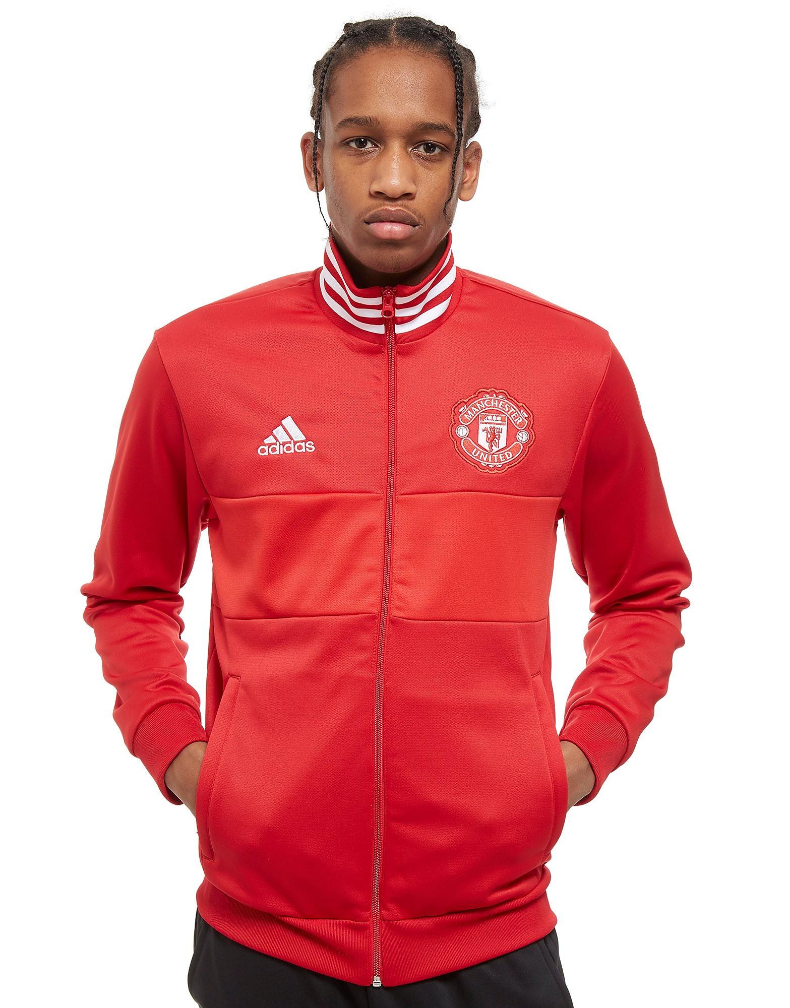 adidas Manchester United FC 3-Stripes Trainingsjacke Rot