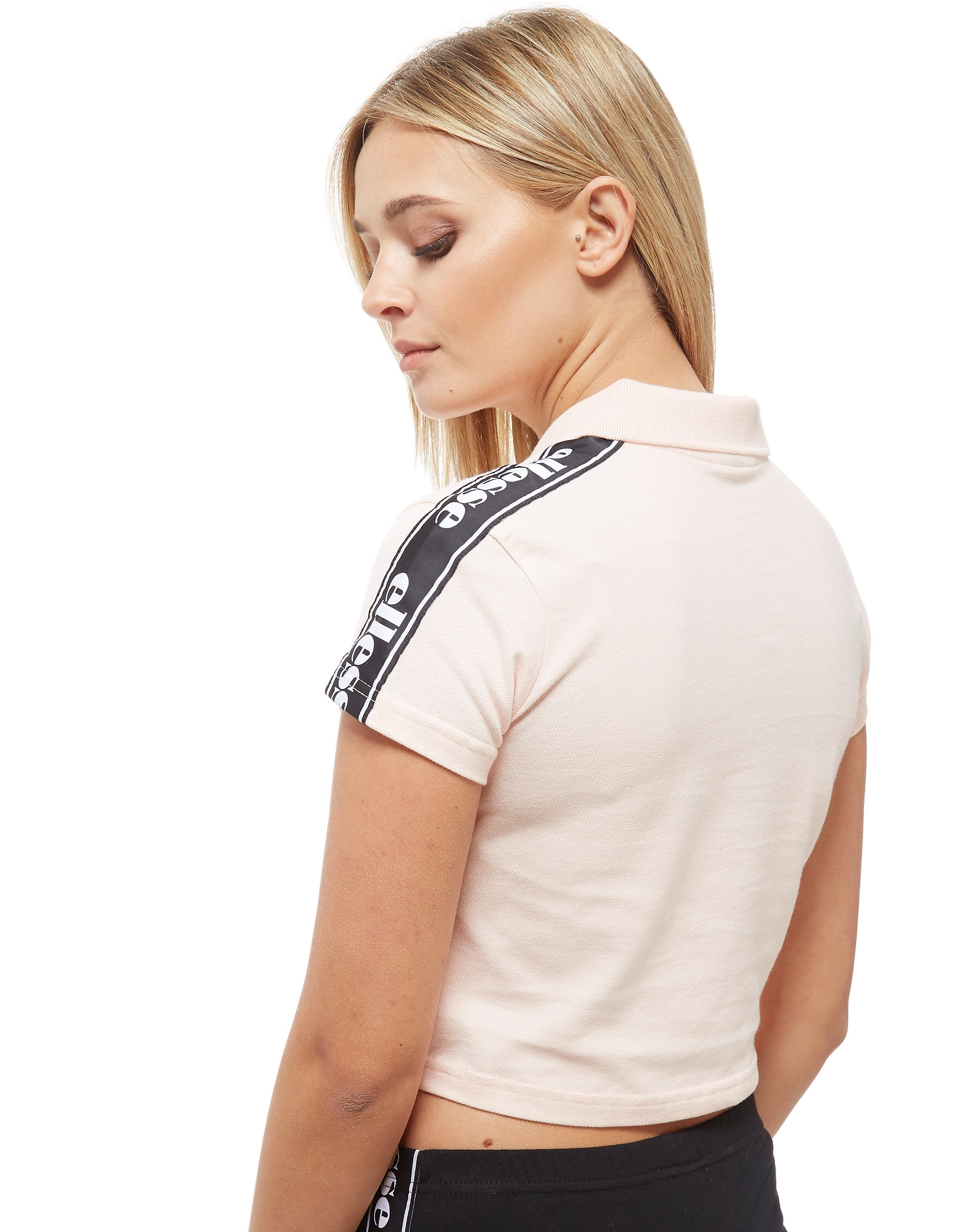 Ellesse Tape Crop 1/2 Zip Polo Donna